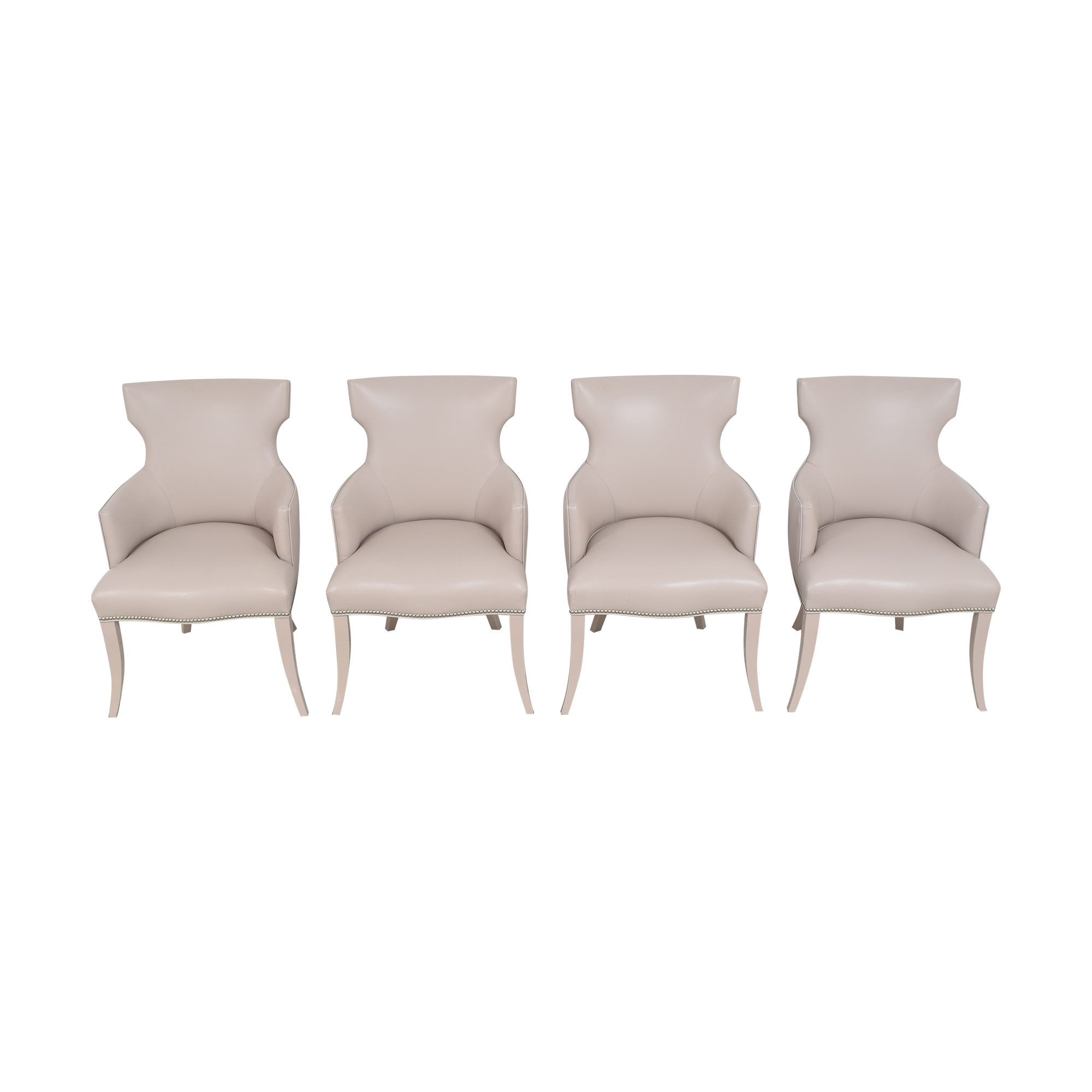 Artistic Frame Artistic Frame Custom Wing Back Dining Chairs for sale