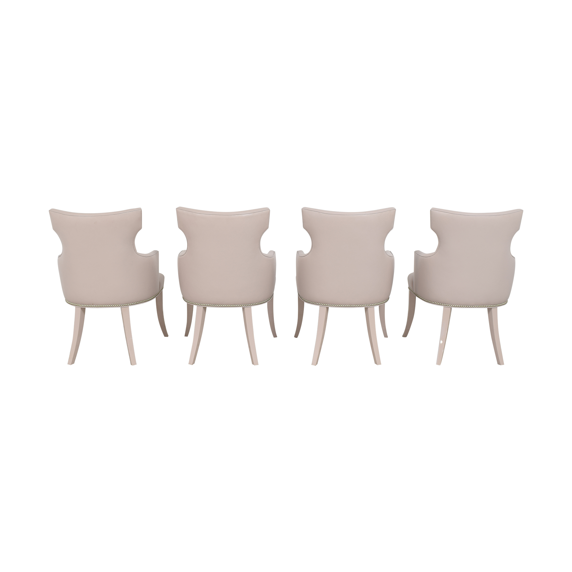Artistic Frame Artistic Frame Custom Wing Back Dining Chairs used
