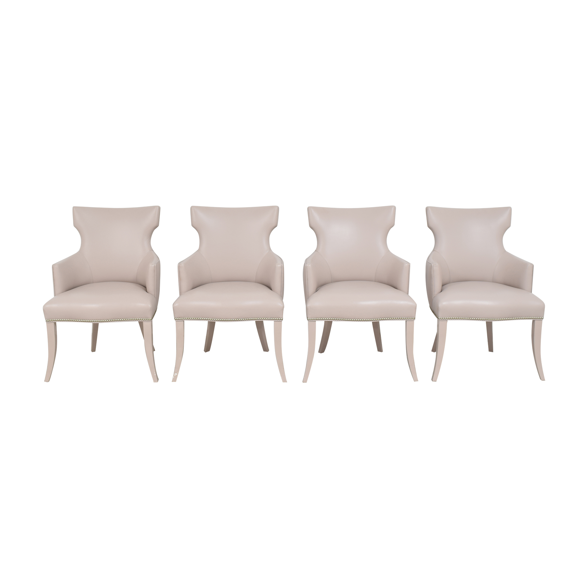 Artistic Frame Artistic Frame Custom Wing Back Dining Chairs second hand