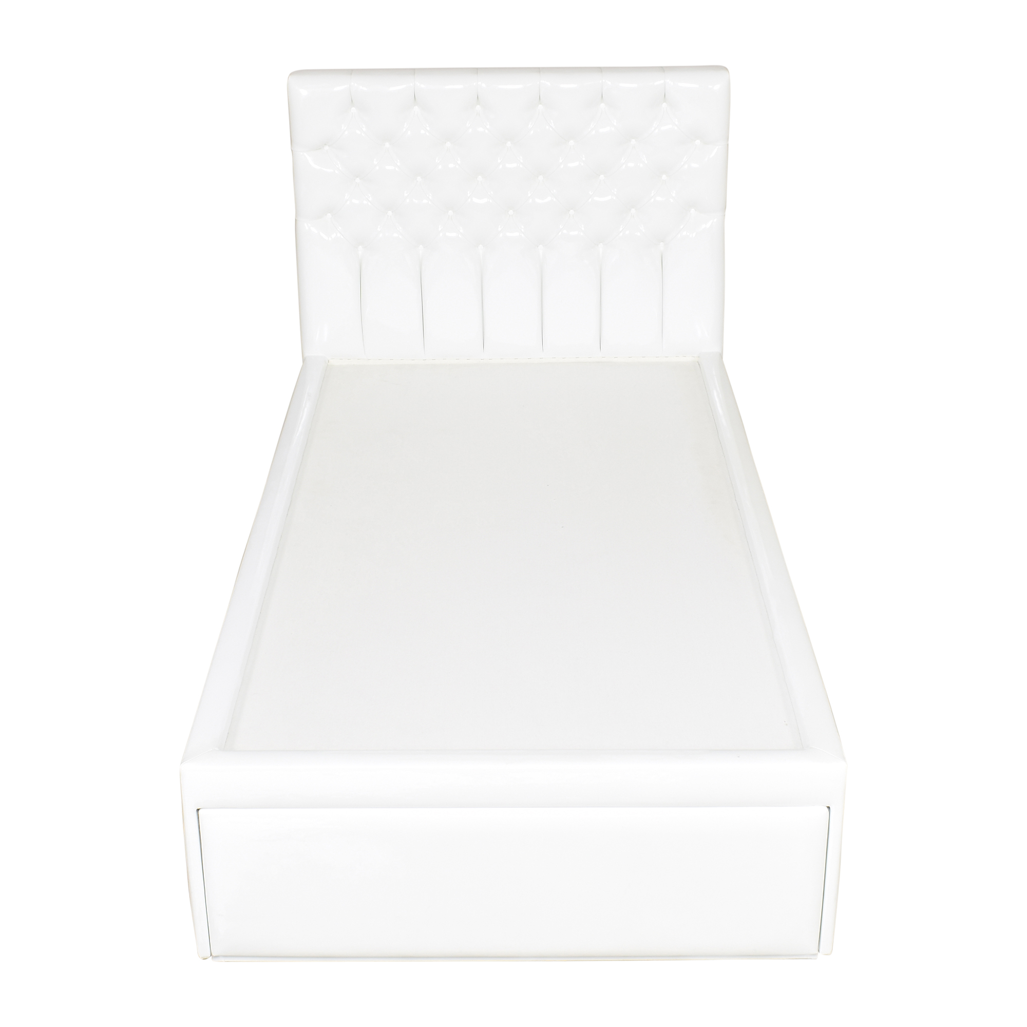 Custom Button Tufted Twin Storage Bed sale