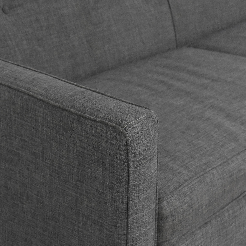 Raymour & Flanigan Raymour & Flanigan Two Cushion Chilson Sofa Classic Sofas