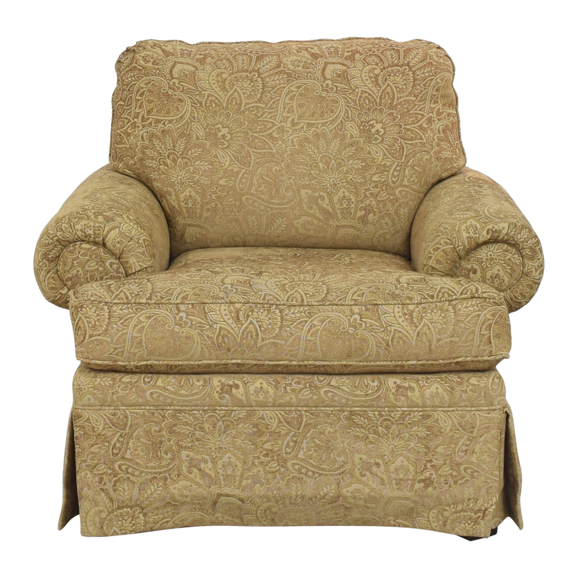 Clayton Marcus Clayton Marcus Lauren Roll Arm Chair Accent Chairs