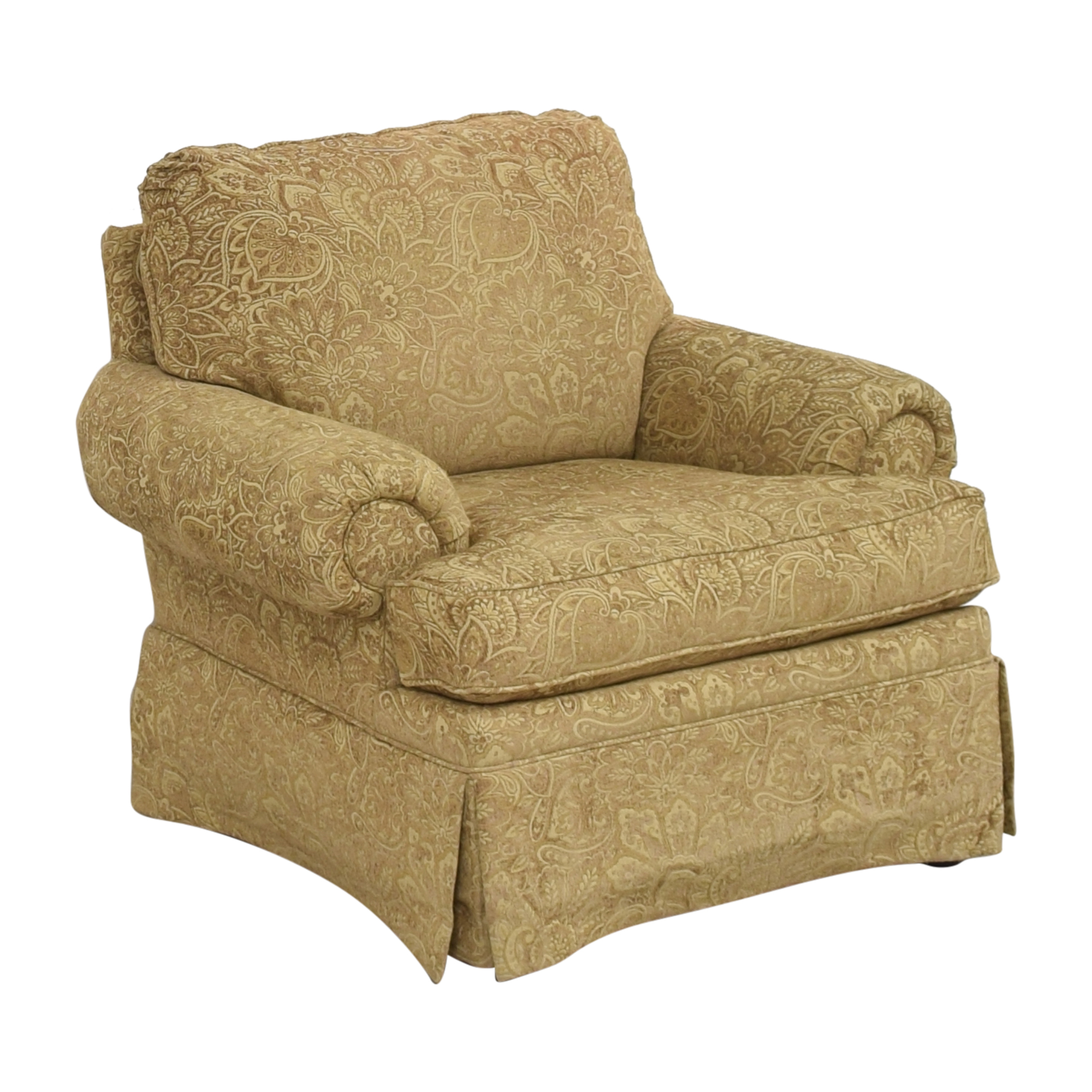 Clayton Marcus Clayton Marcus Lauren Roll Arm Chair used