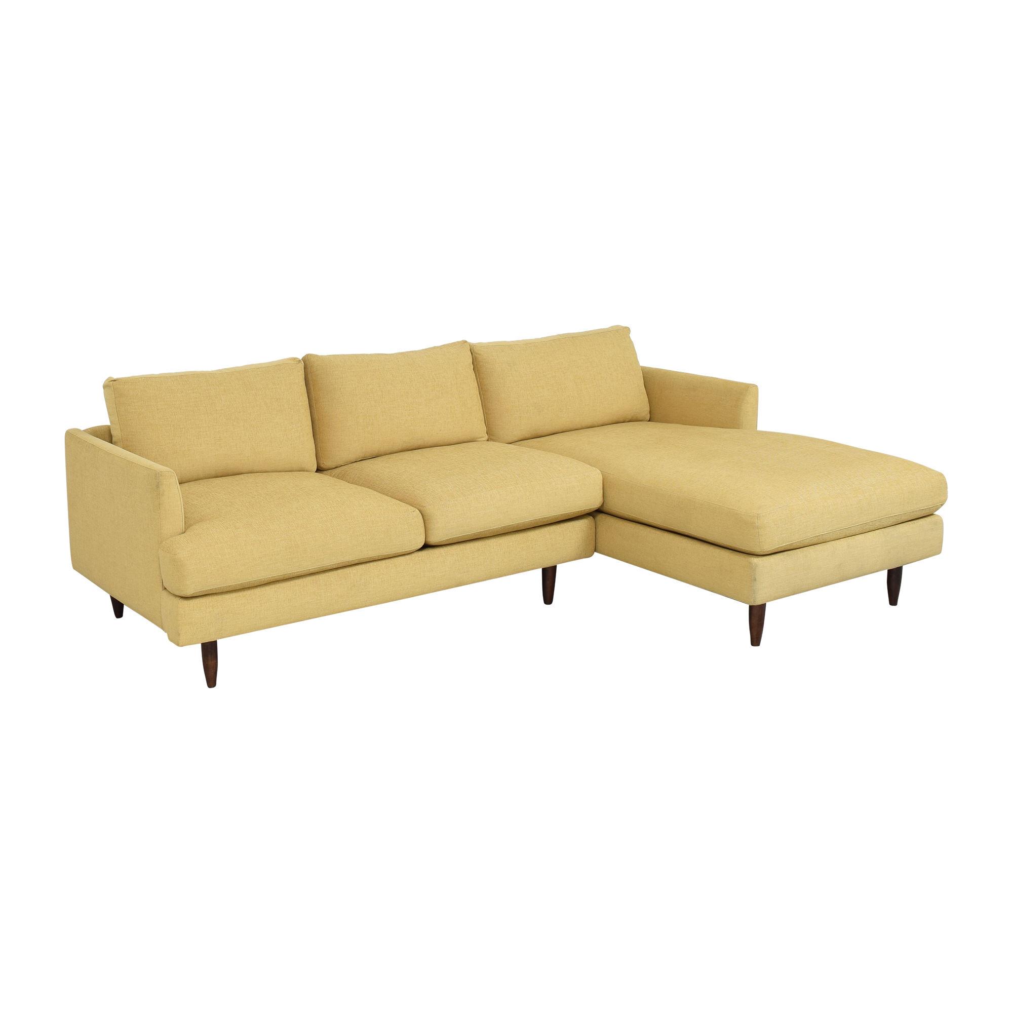 BenchMade Modern BenchMade Modern Crowd Pleaser Sofa with Chaise for sale