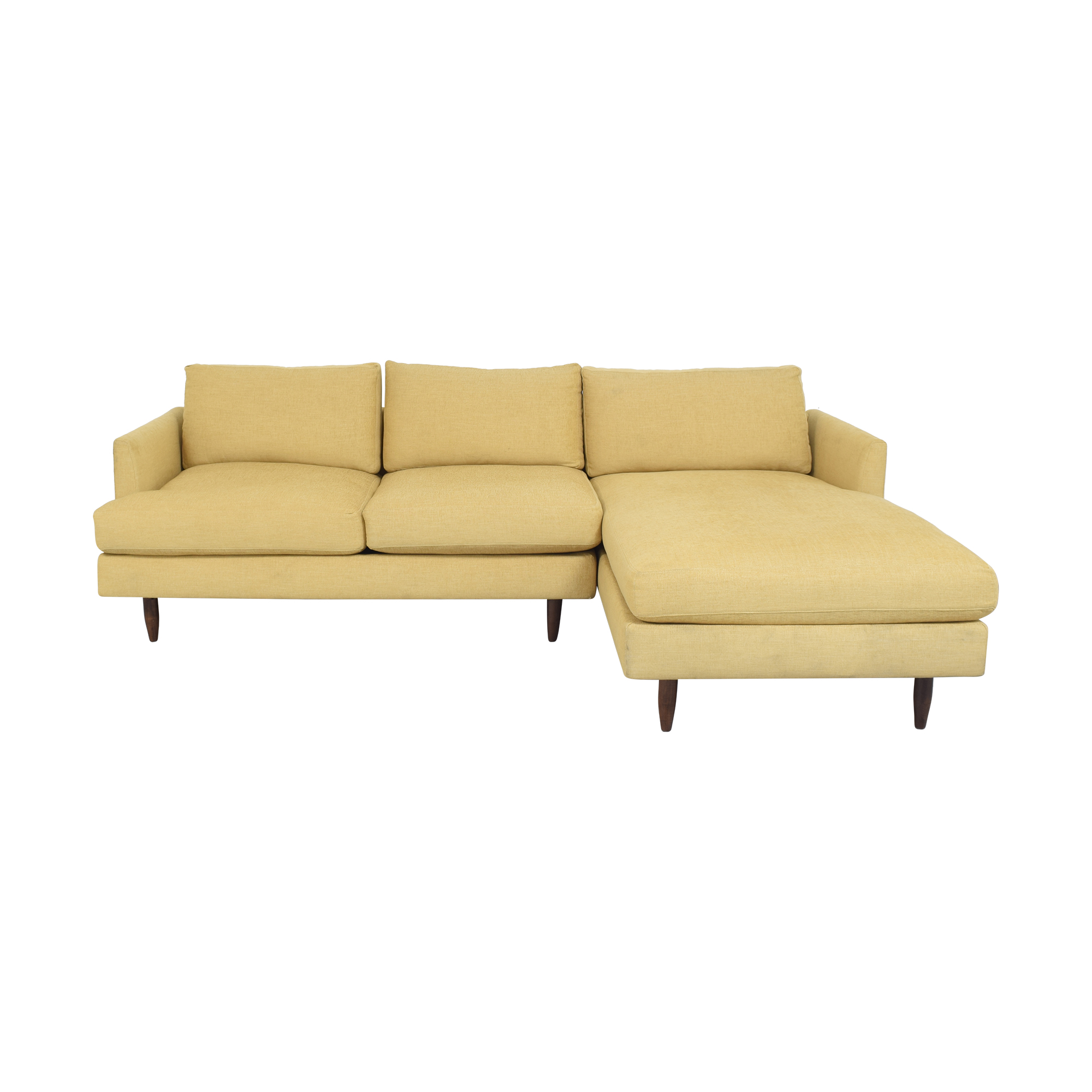 BenchMade Modern BenchMade Modern Crowd Pleaser Sofa with Chaise dimensions