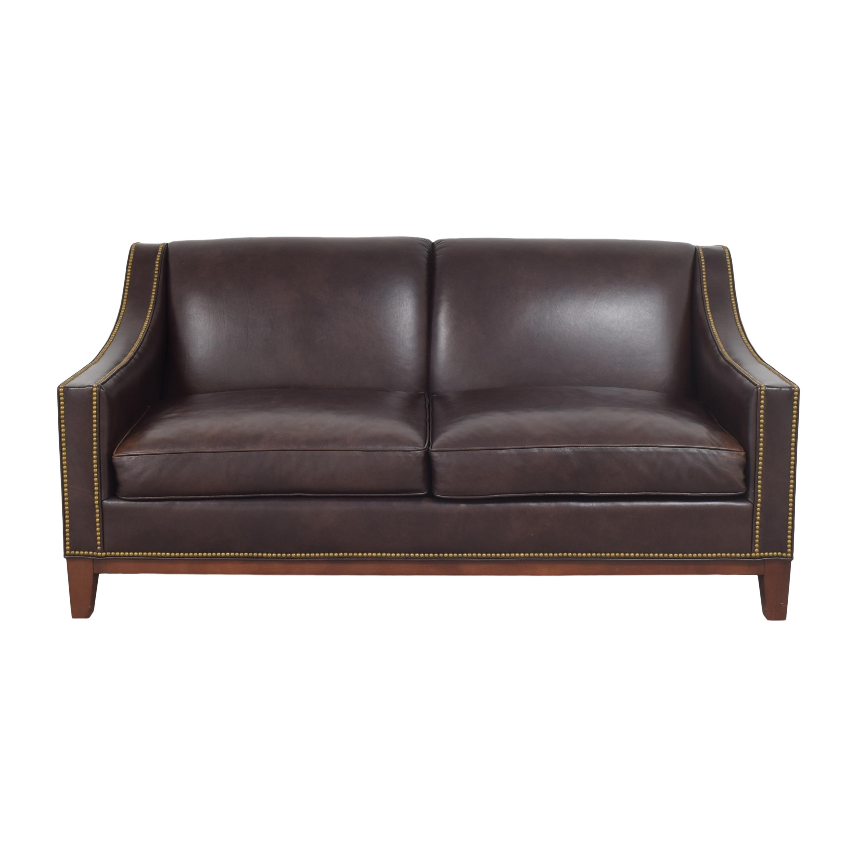 Nailhead Trim Slope Arm Sofa
