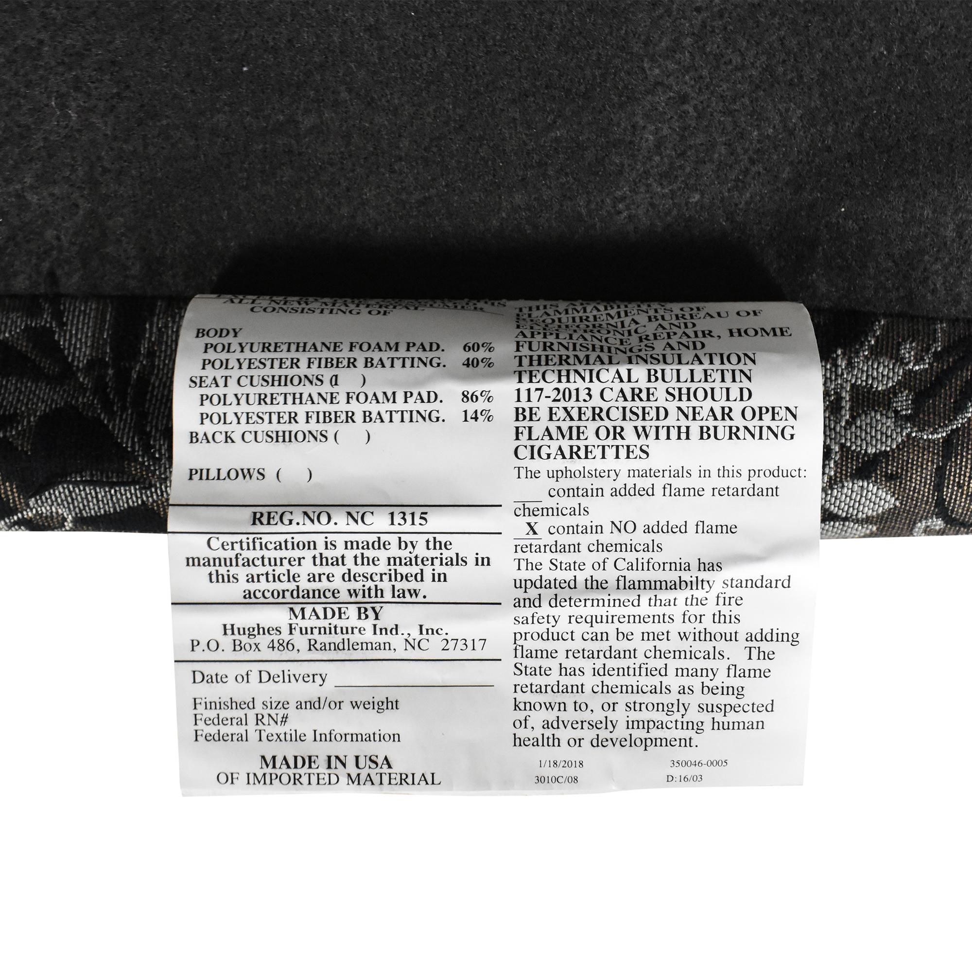 Raymour & Flanigan Raymour & Flanigan Hartley Accent Chair black & grey