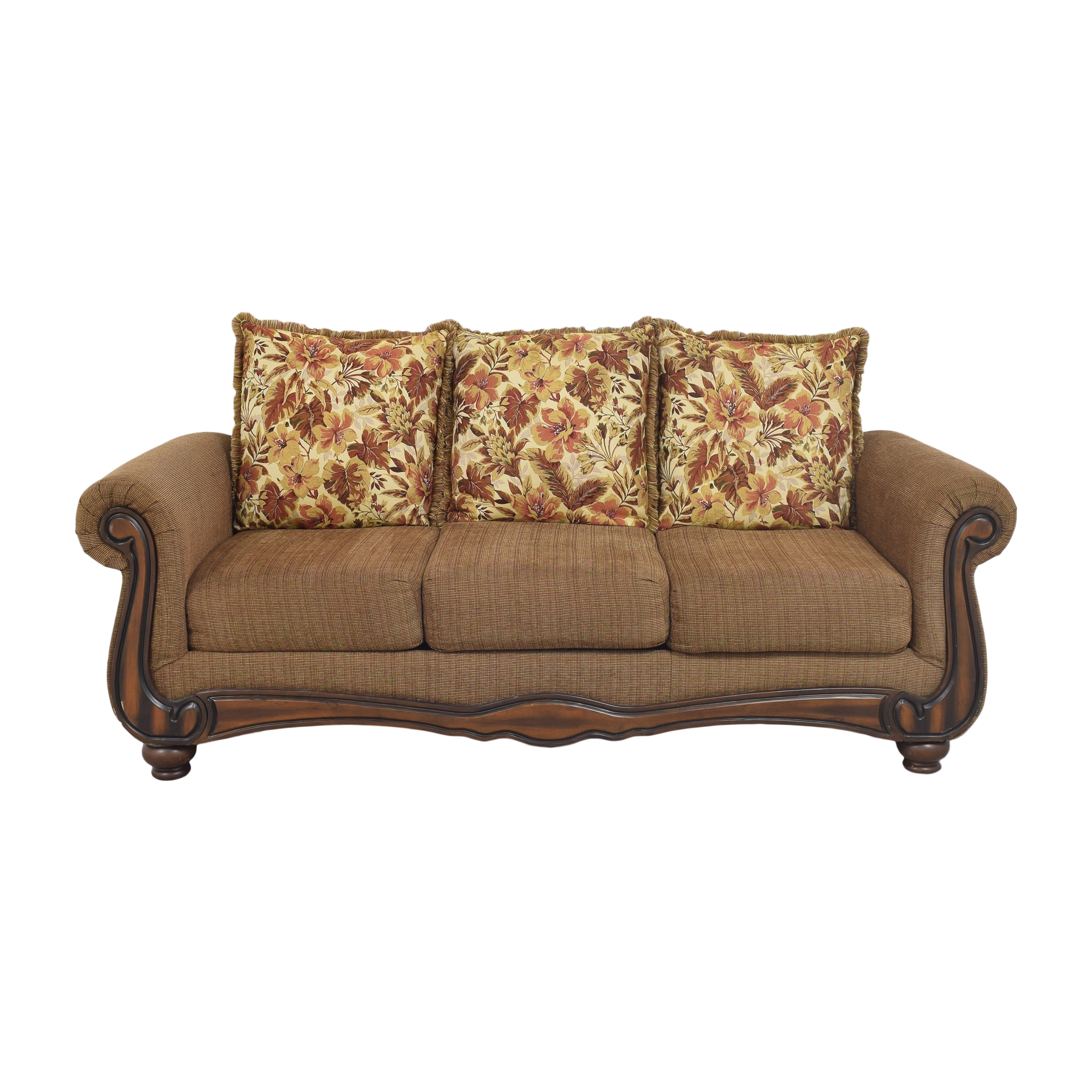 Hughes Furniture Hughes Furniture Roll Arm Sofa brown