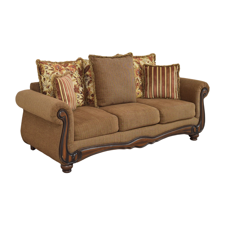 shop Hughes Furniture Roll Arm Sofa Hughes Furniture