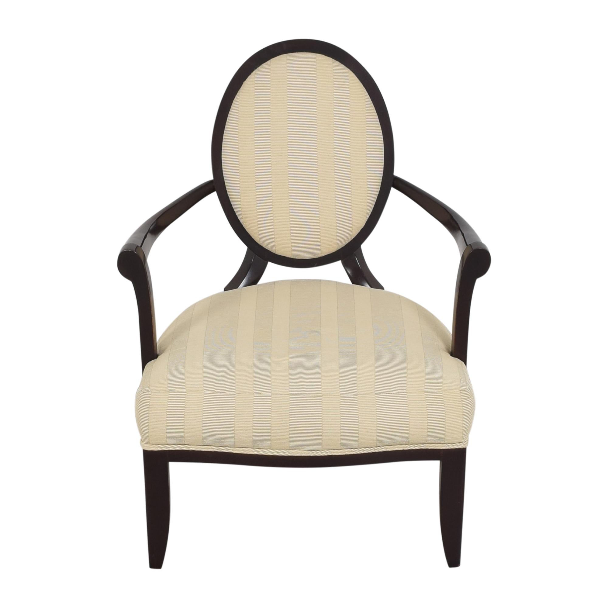 Baker Furniture Barbara Barry for Baker Furniture Oval X Back Armchair ct