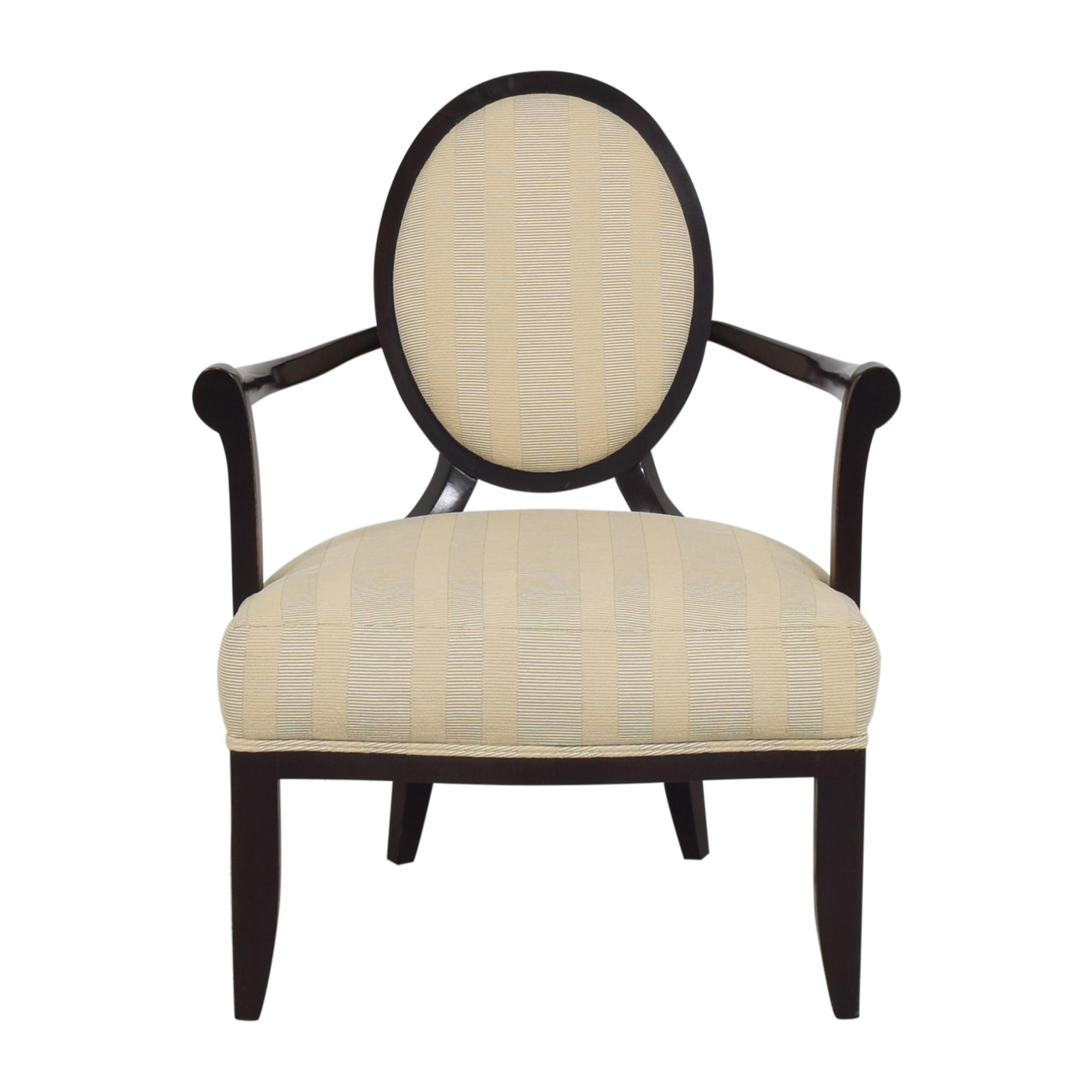 buy Barbara Barry for Baker Furniture Oval X Back Armchair Baker Furniture
