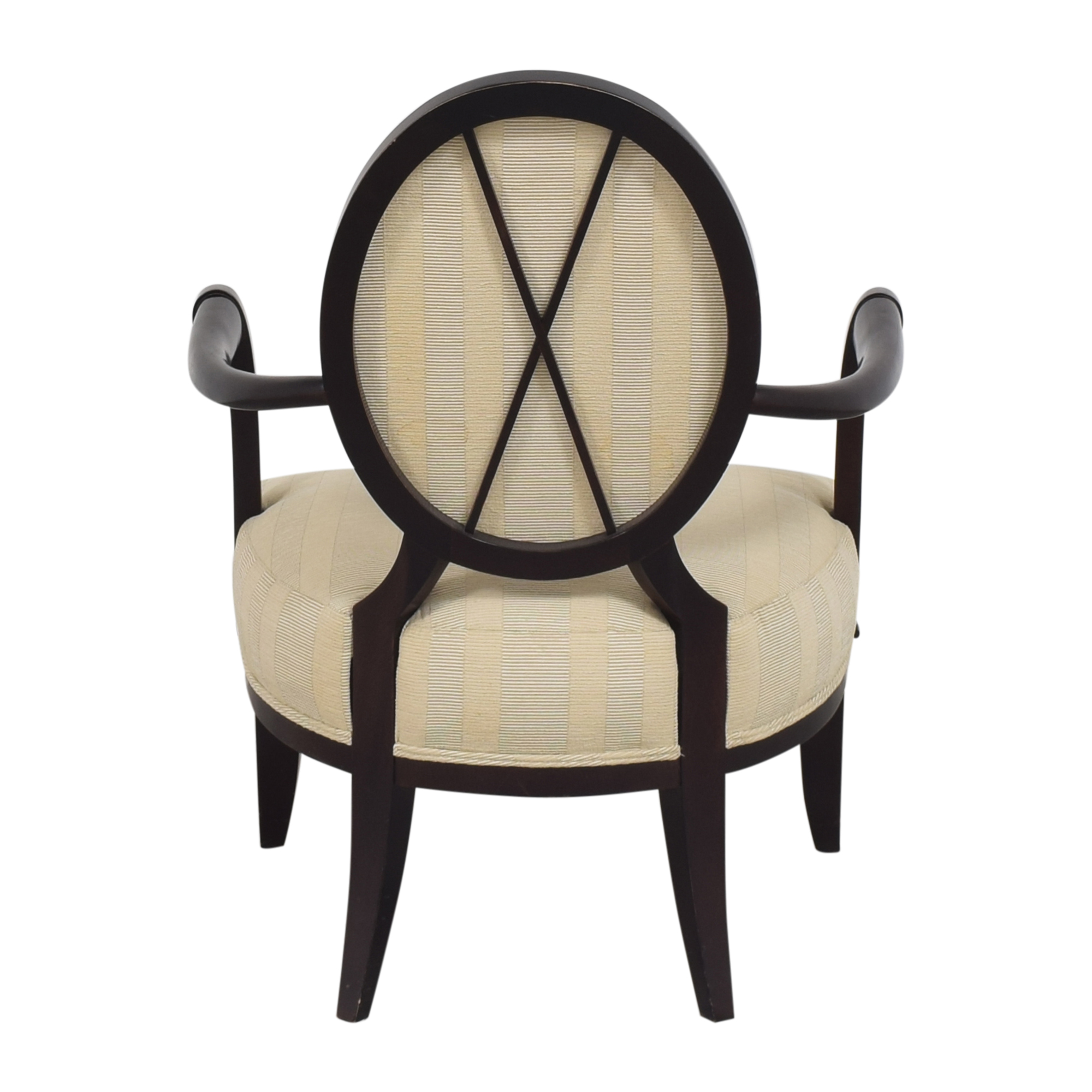 Baker Furniture Barbara Barry for Baker Furniture Oval X Back Armchair Chairs