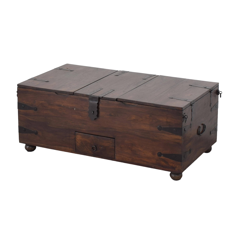Crate & Barrel Taka Trunk Storage Coffee Table / Trunks