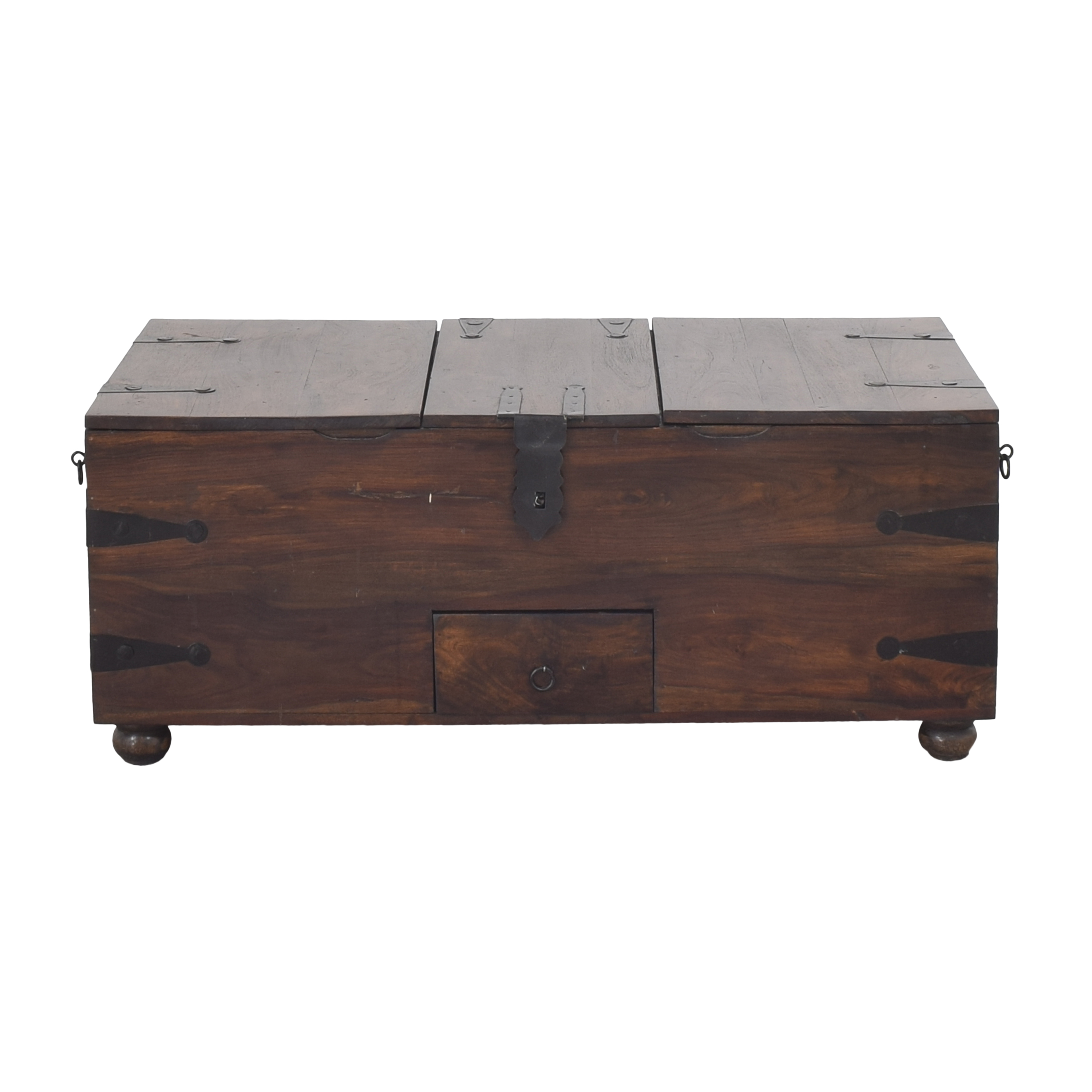 Crate & Barrel Crate & Barrel Taka Trunk Storage Coffee Table brown and black