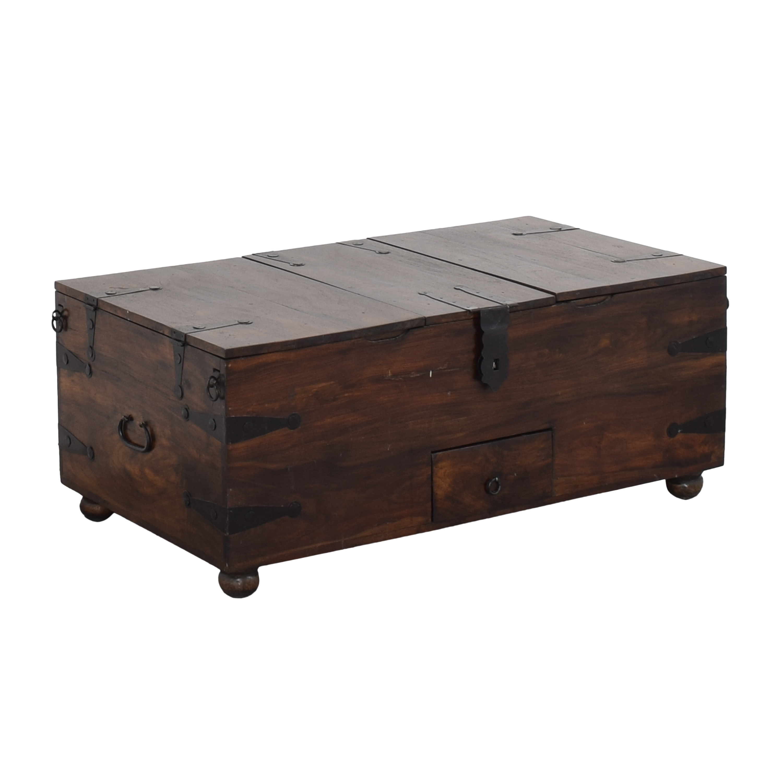 Crate & Barrel Taka Trunk Storage Coffee Table Crate & Barrel