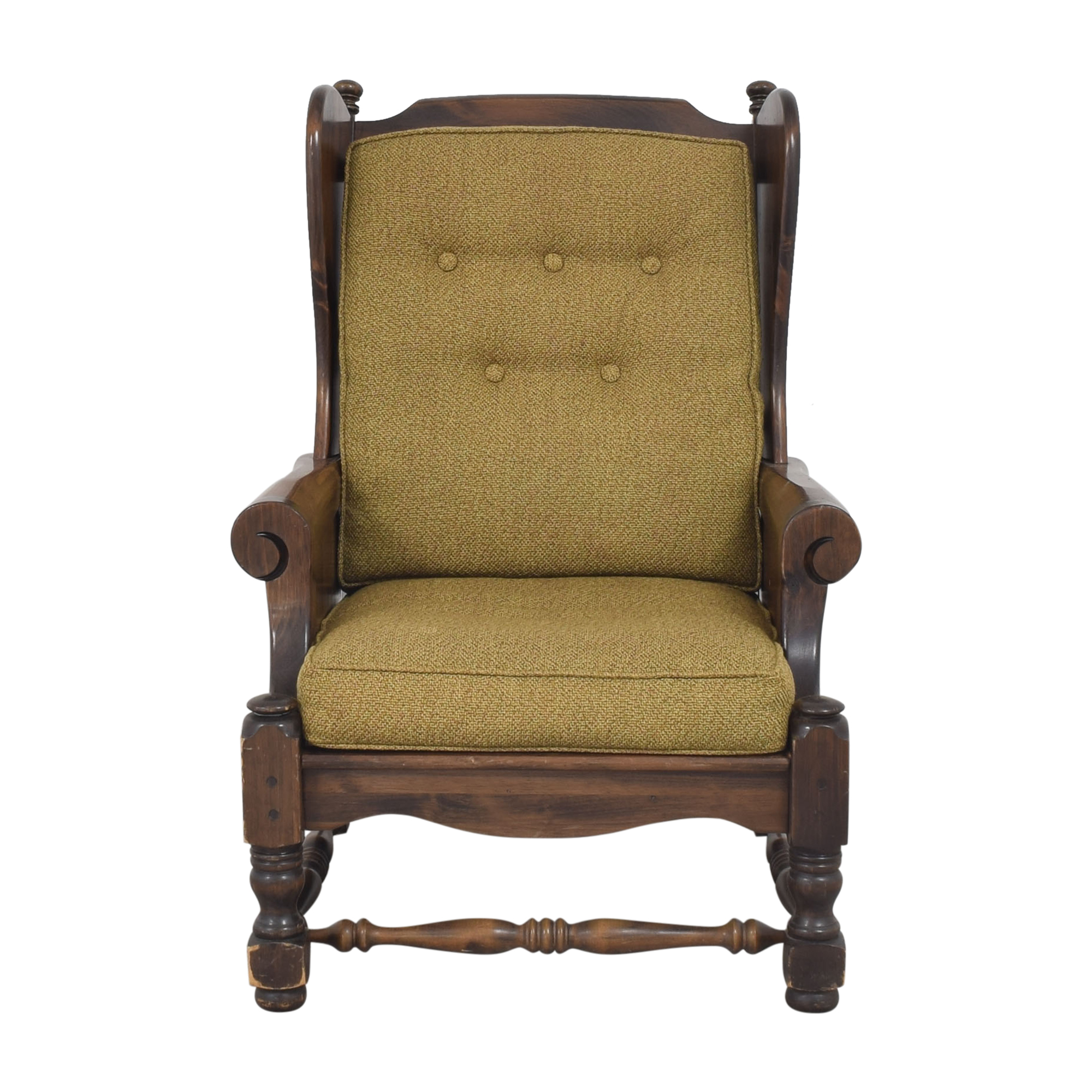 Bennington Pine Bennington Pine Button Tufted Club Chair used