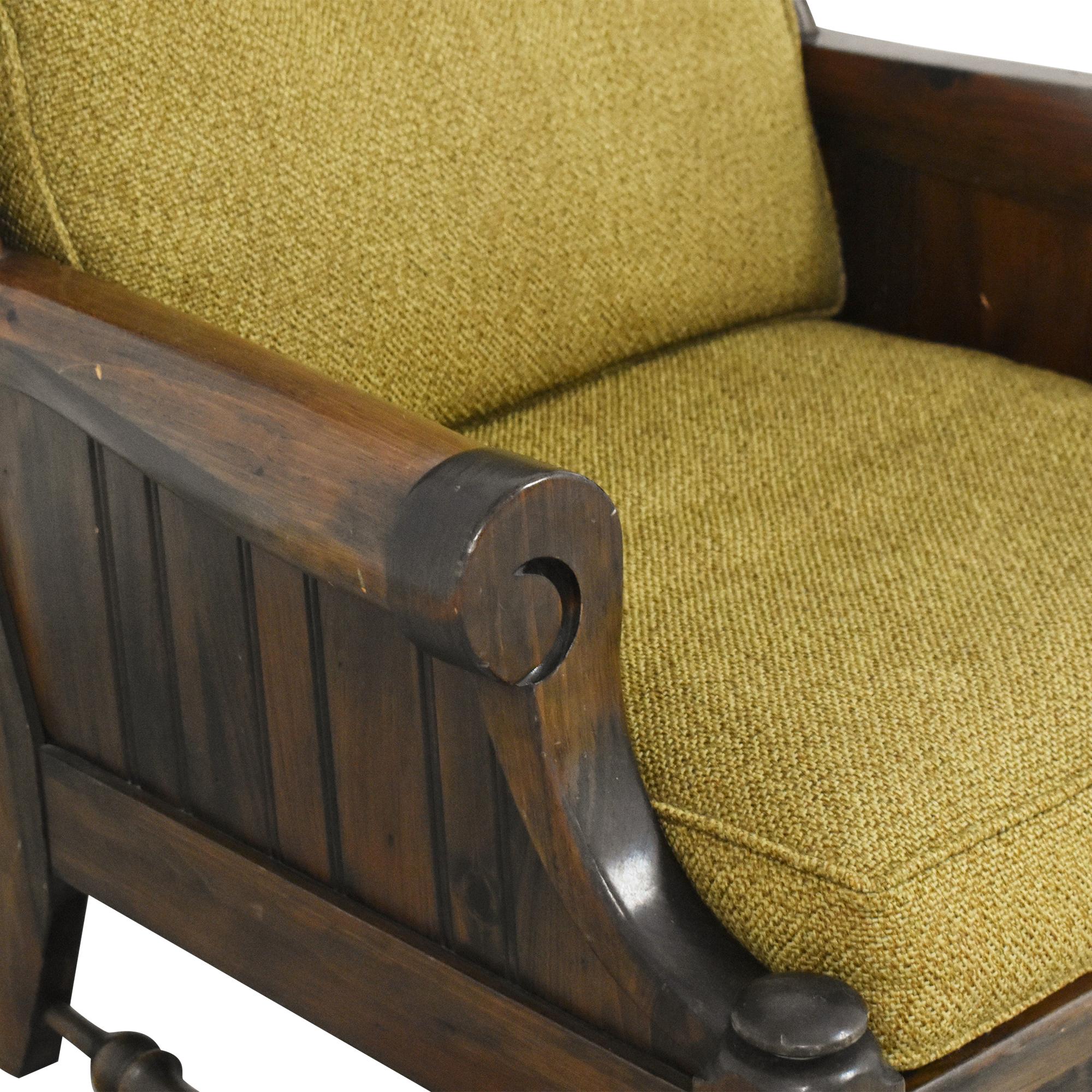 Bennington Pine Bennington Pine Button Tufted Club Chair on sale
