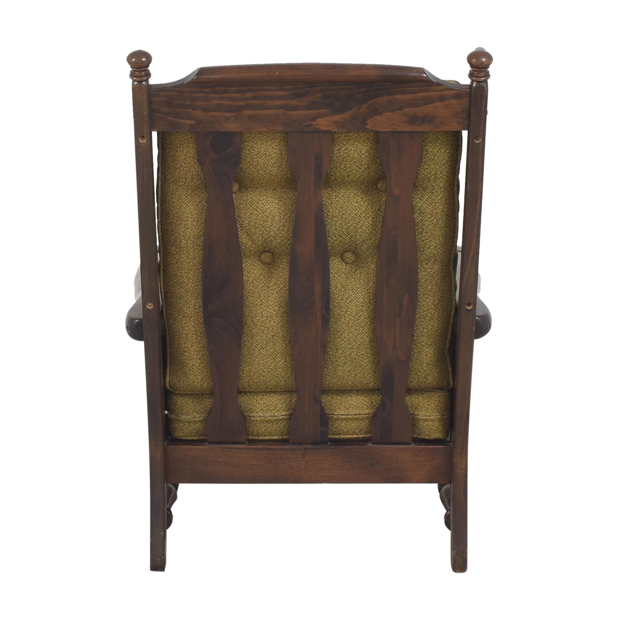Bennington Pine Button Tufted Club Chair sale