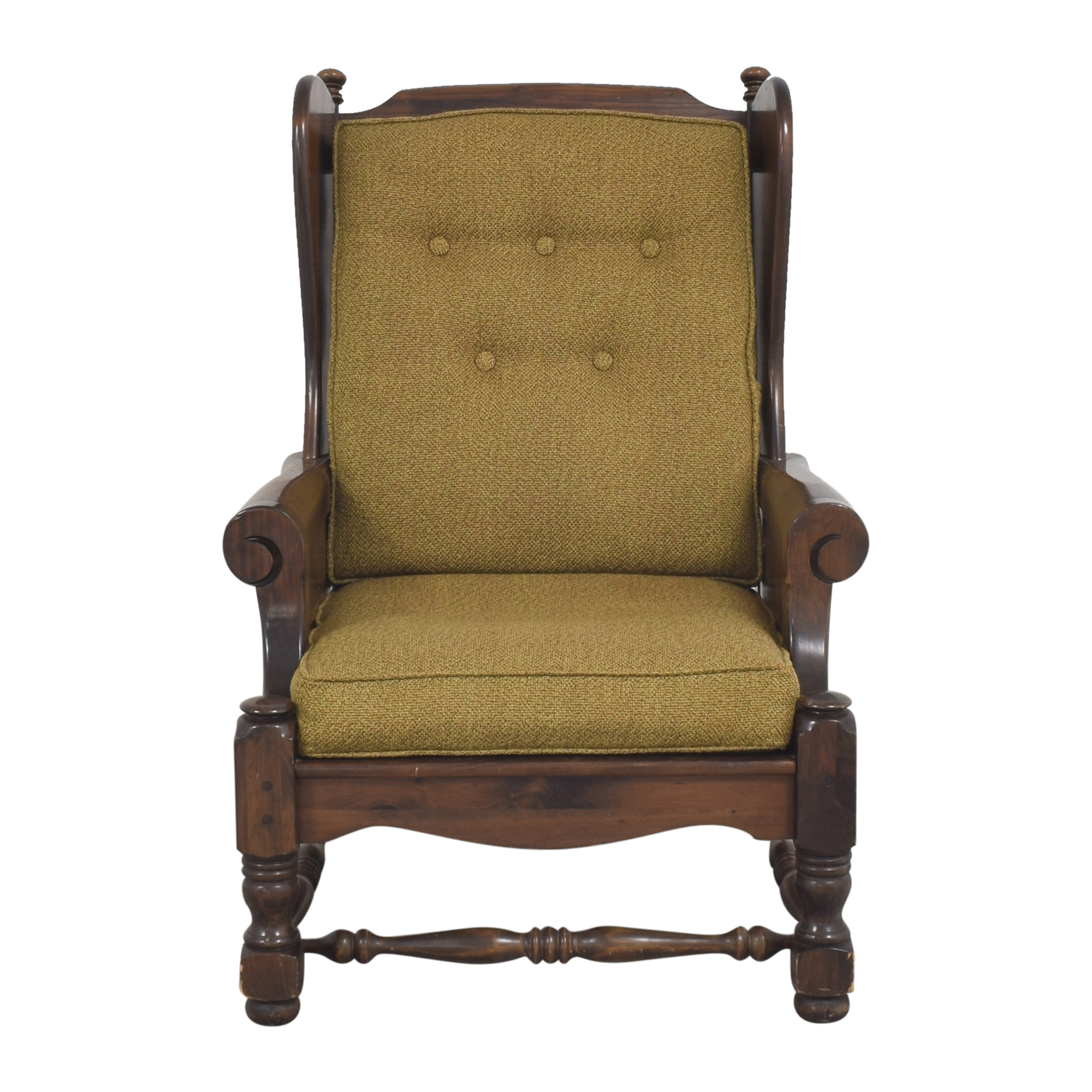 Bennington Pine Button Tufted Club Chair Bennington Pine