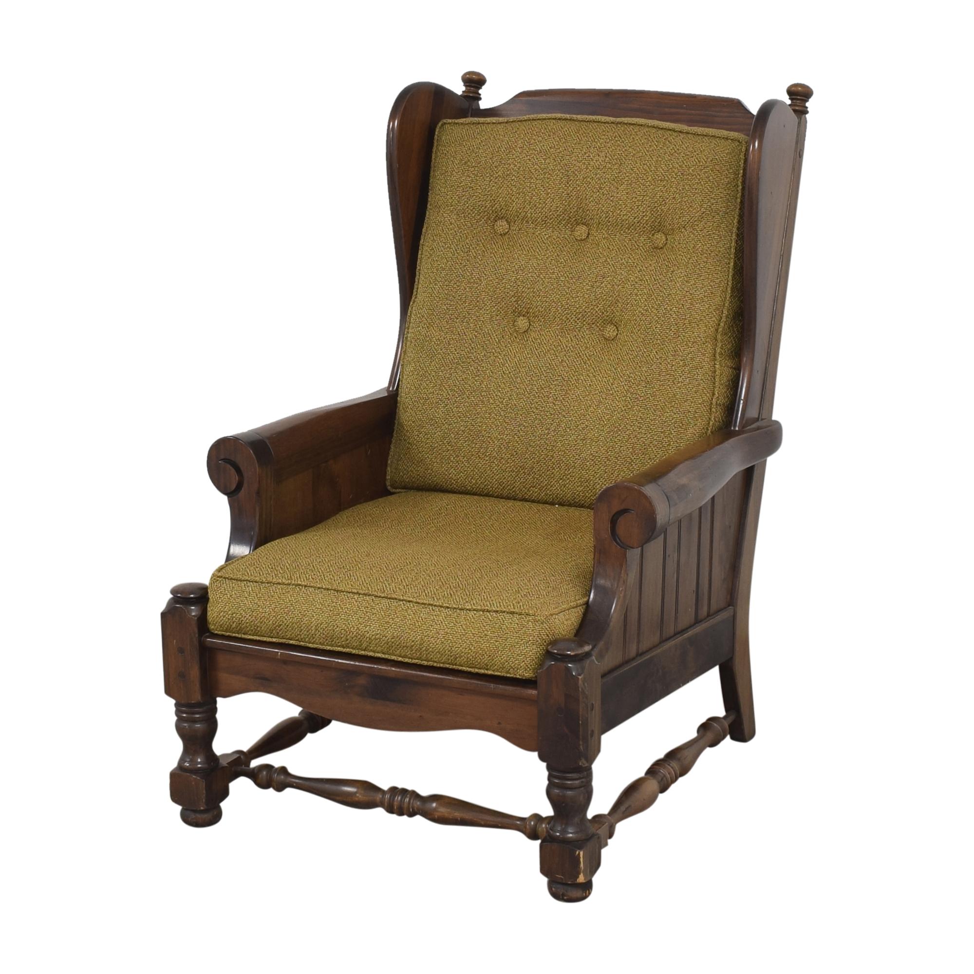 buy Bennington Pine Button Tufted Club Chair Bennington Pine Chairs