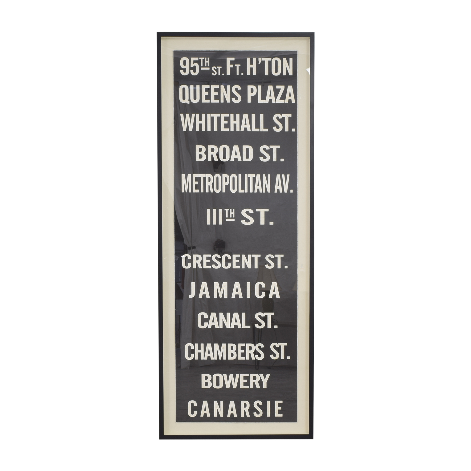 Restoration Hardware Restoration Hardware Subway Sign Art 95th second hand