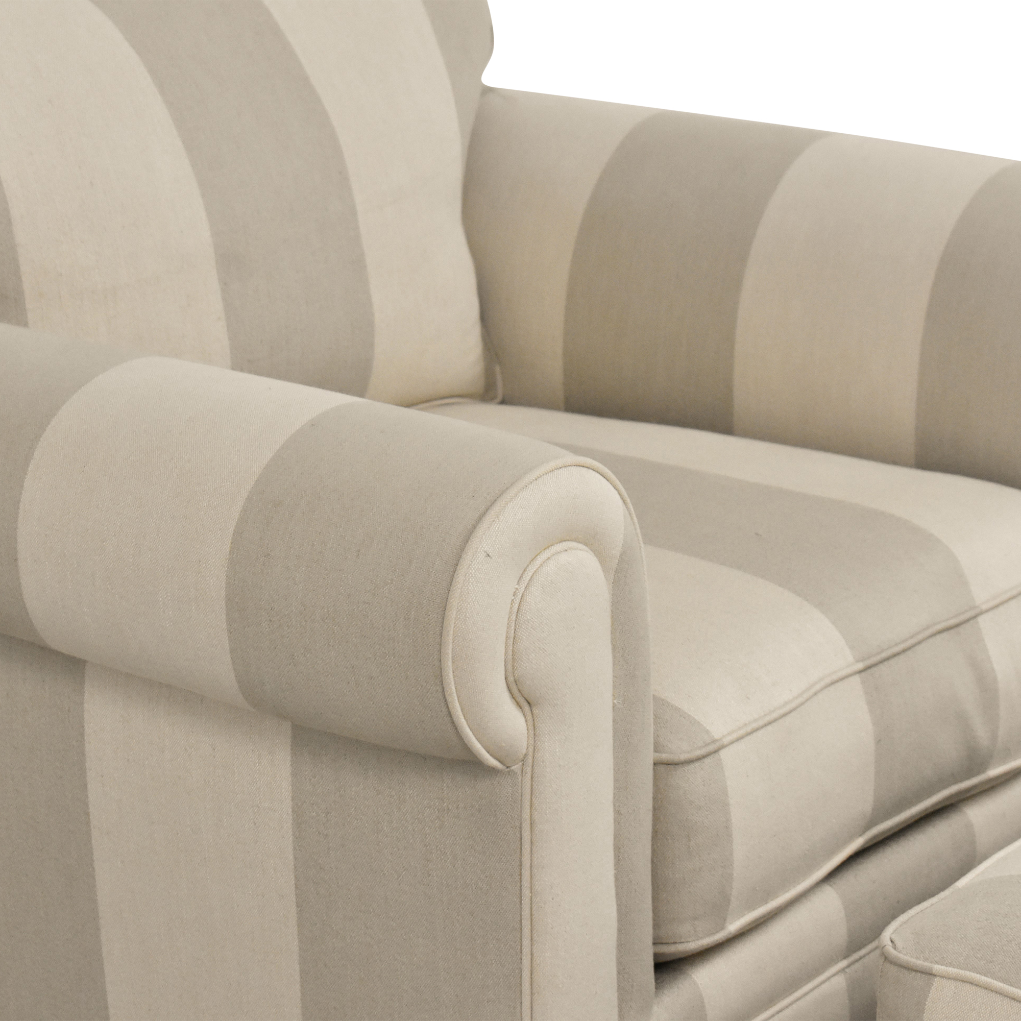 buy Macy's Macy's Martha Stewart Collection Stripe Club Chair and Ottoman online