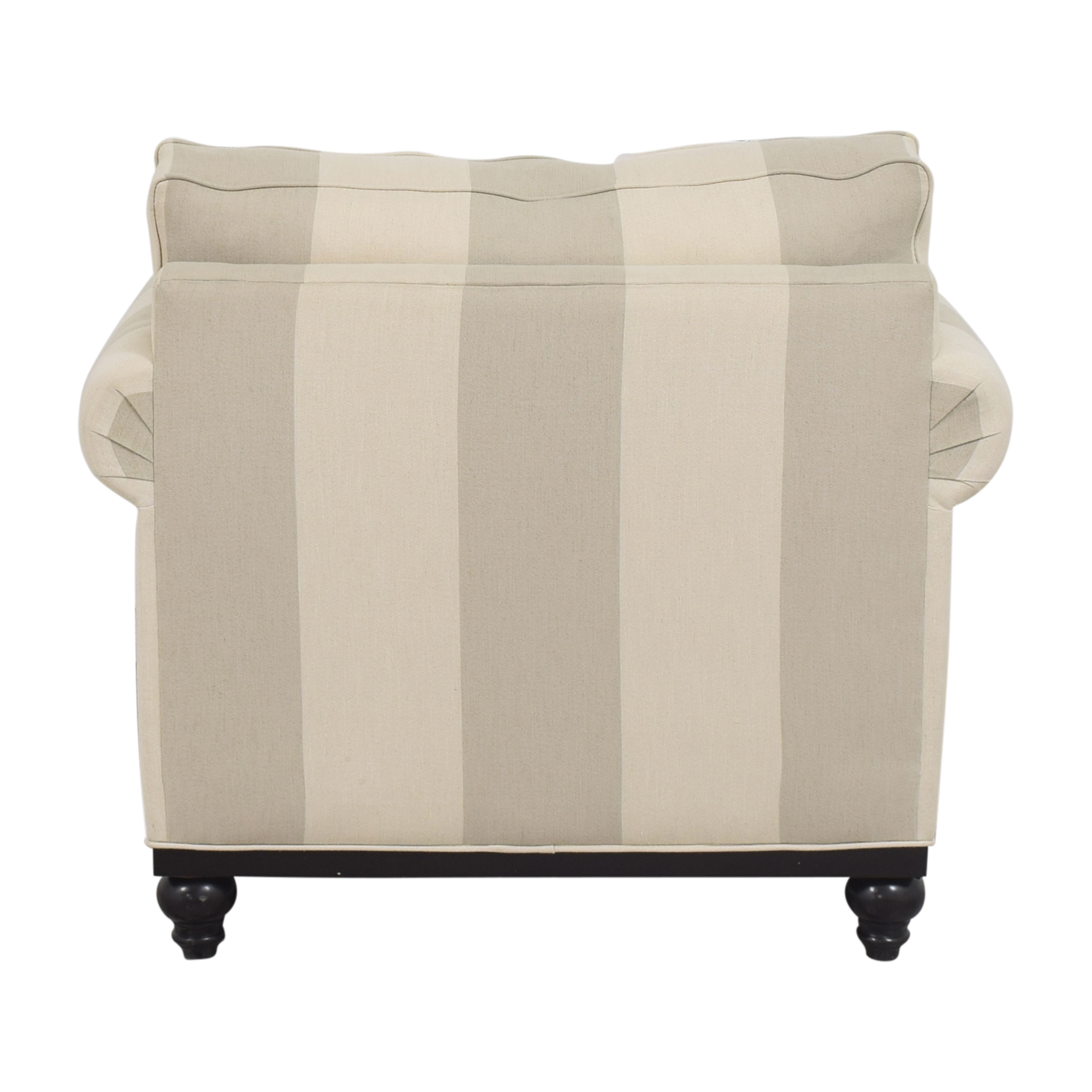 buy Macy's Martha Stewart Collection Stripe Club Chair and Ottoman Macy's Accent Chairs