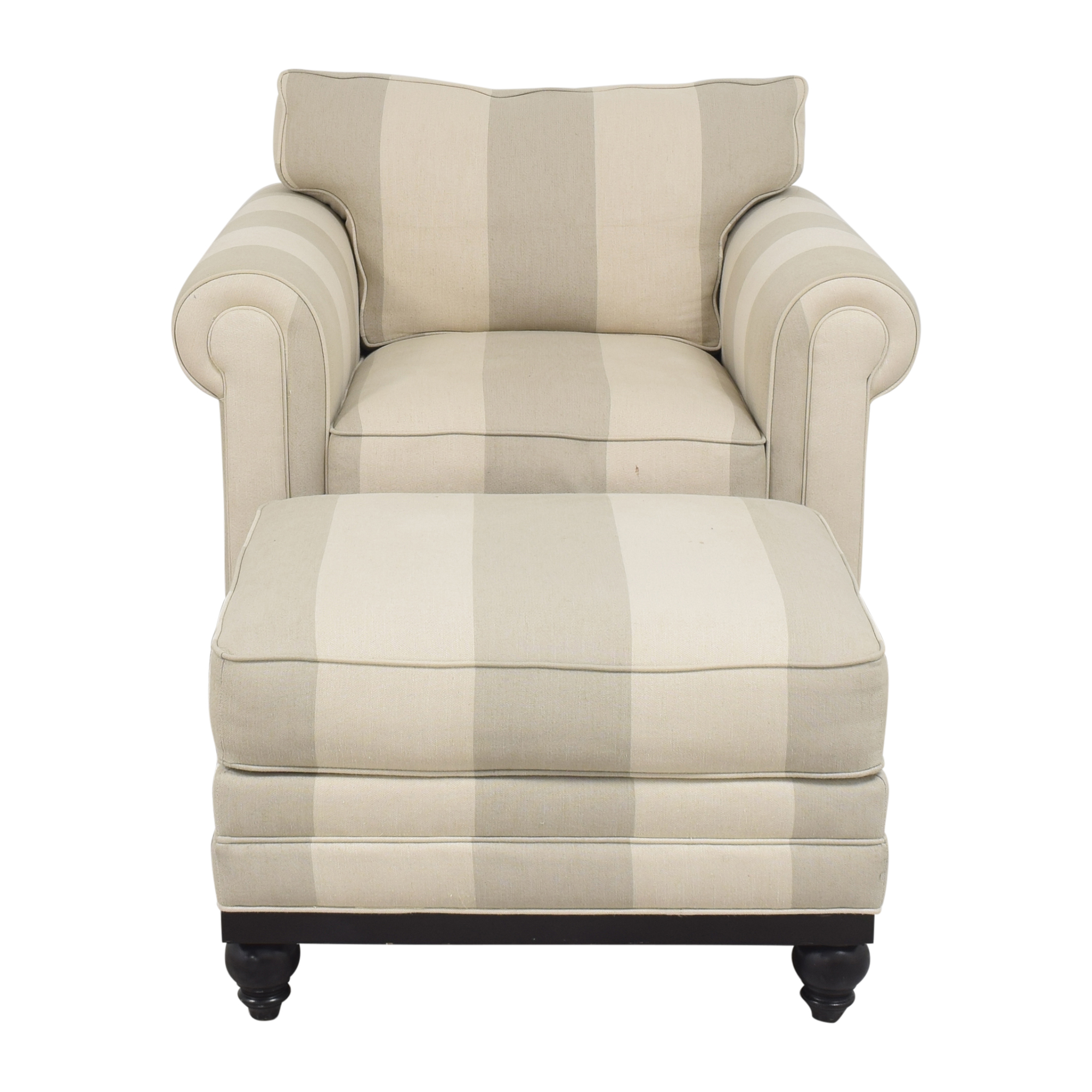 Macy's Macy's Martha Stewart Collection Stripe Club Chair and Ottoman used