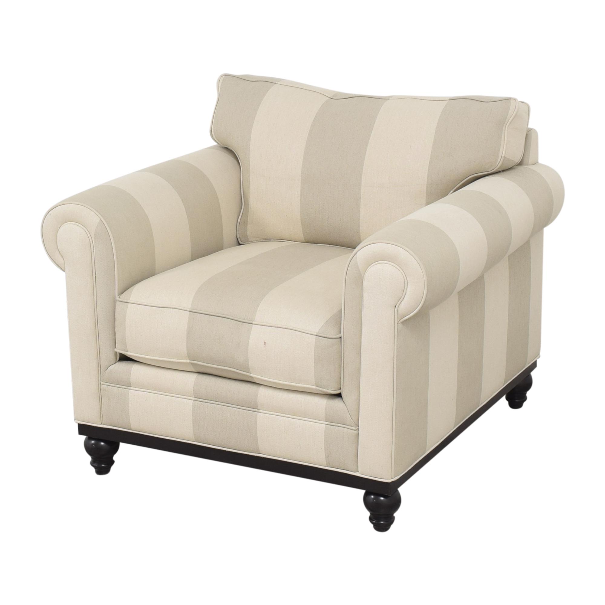 Macy's Macy's Martha Stewart Collection Stripe Club Chair and Ottoman price