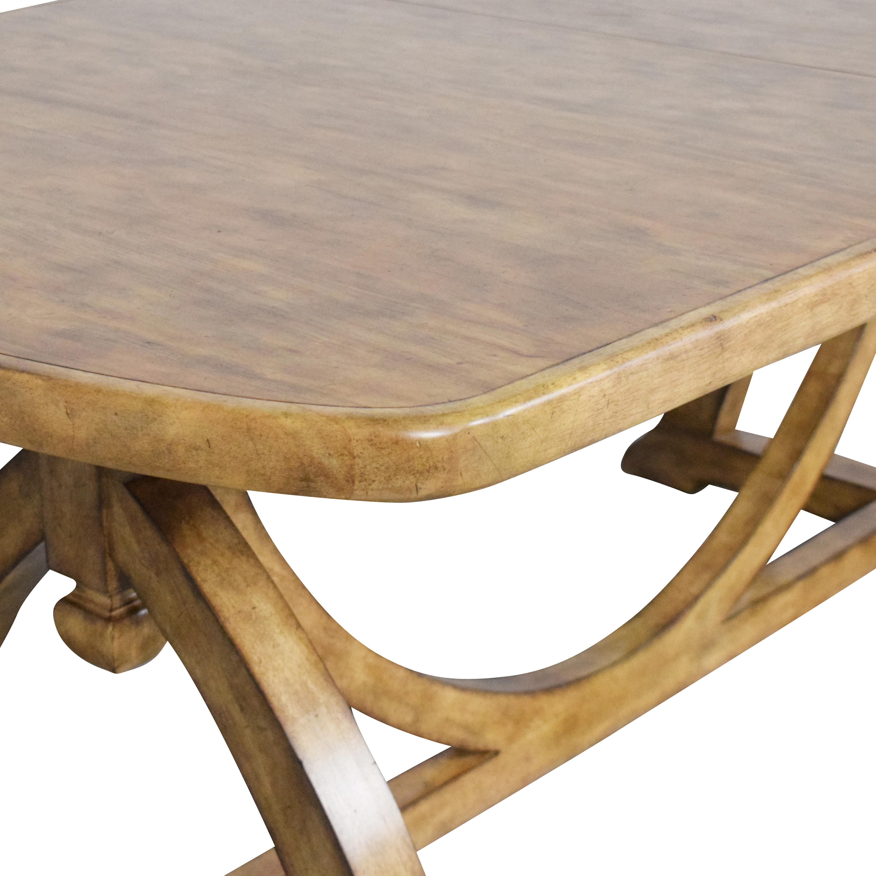 Thomasville Thomasville Reinventions Pacific Trestle Dining Table light brown