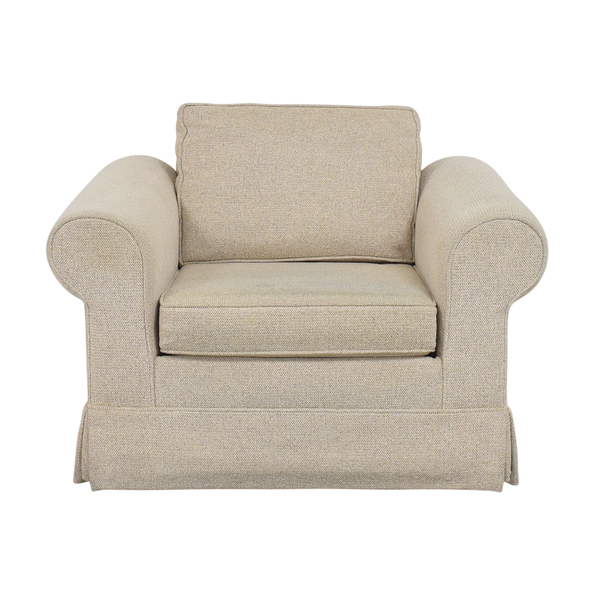 Roll Arm Club Chair on sale