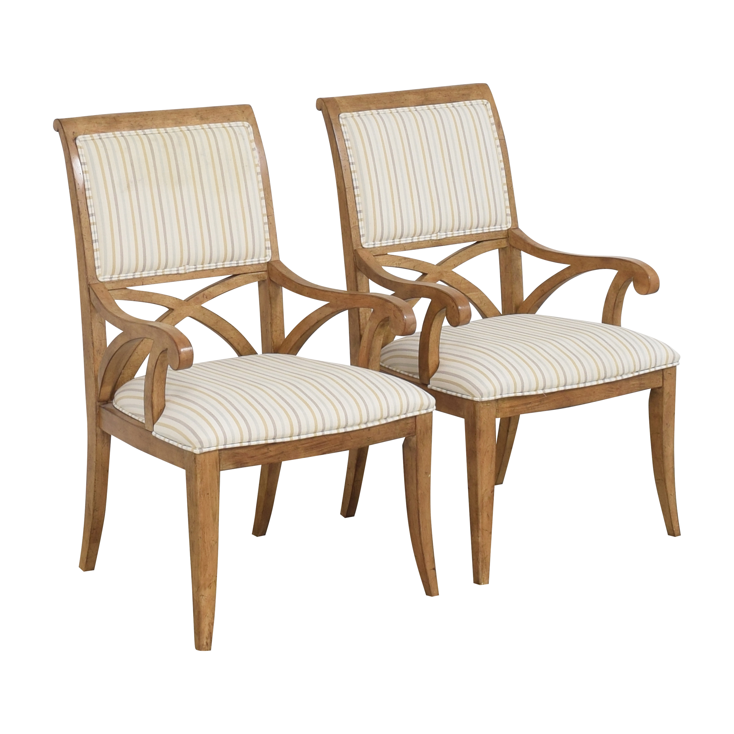 Thomasville Thomasville Upholstered Dining Chairs second hand