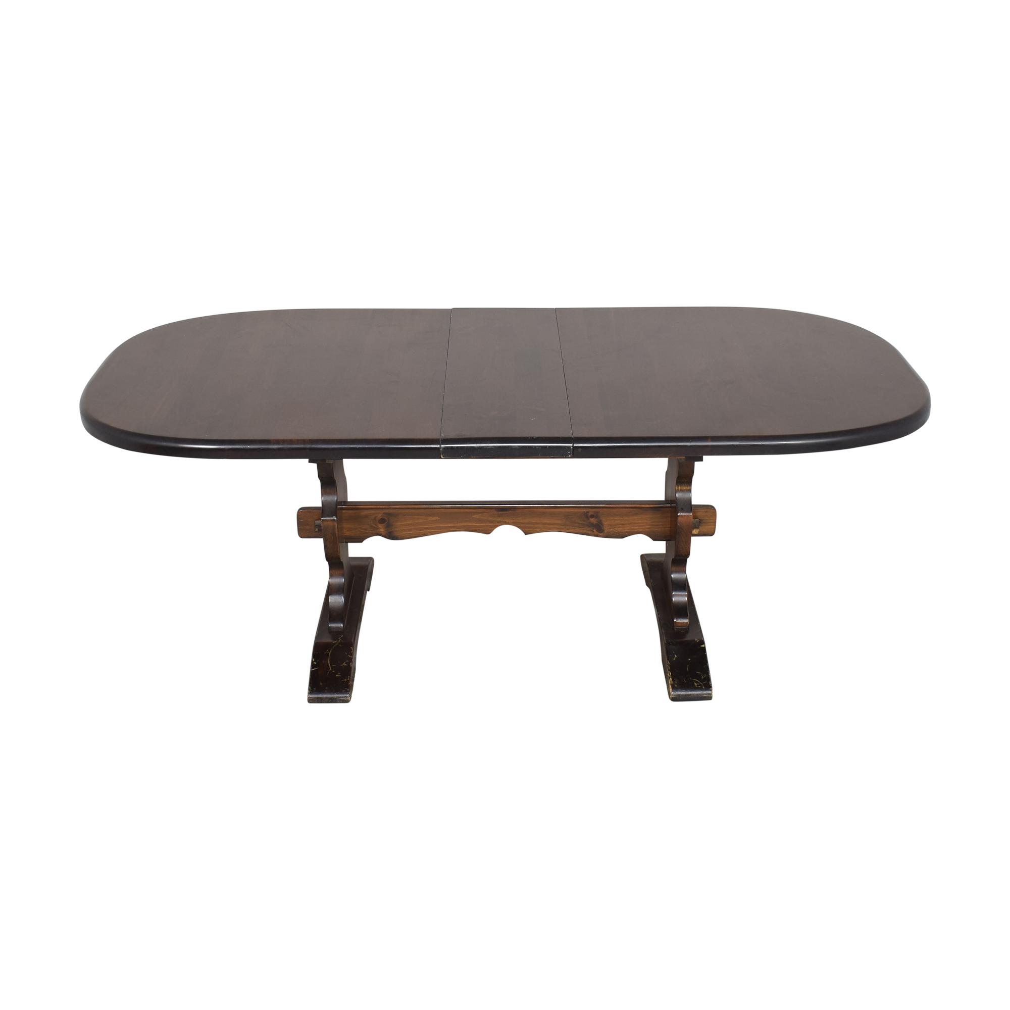 Bennington Pine Bennington Pine Extendable Trestle Dining Table ct