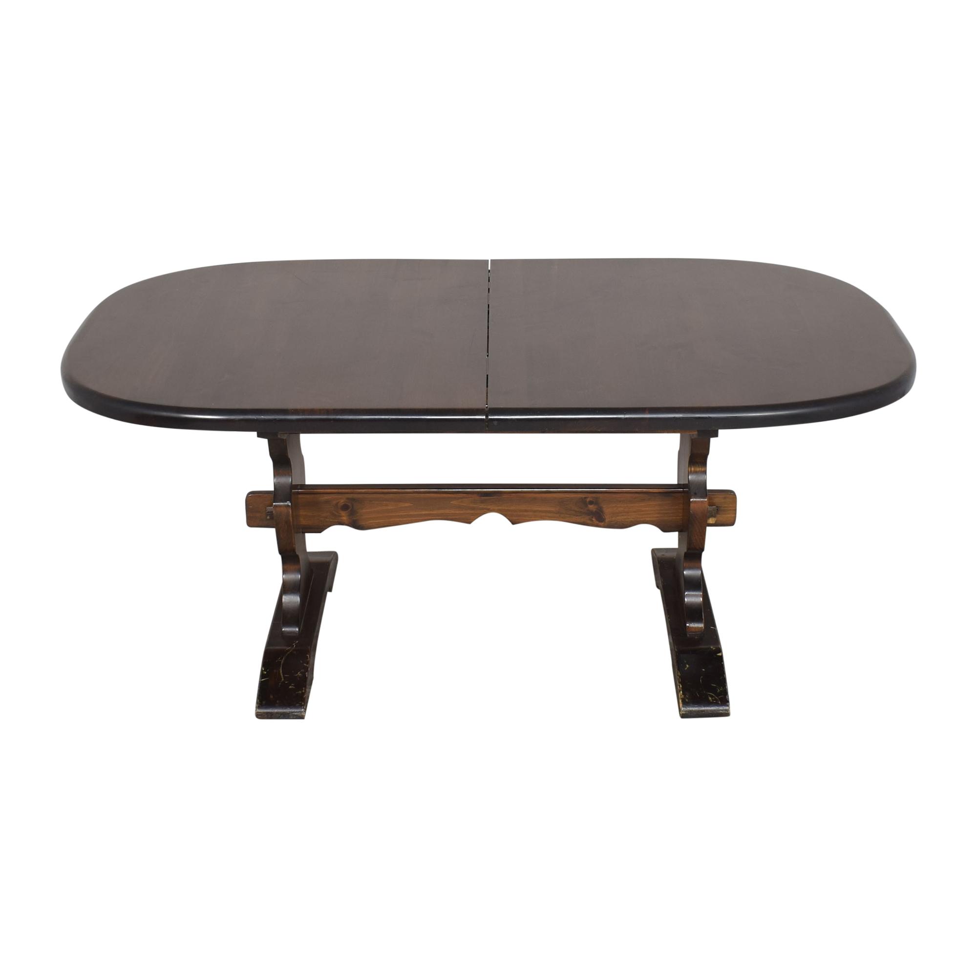 buy Bennington Pine Bennington Pine Extendable Trestle Dining Table online