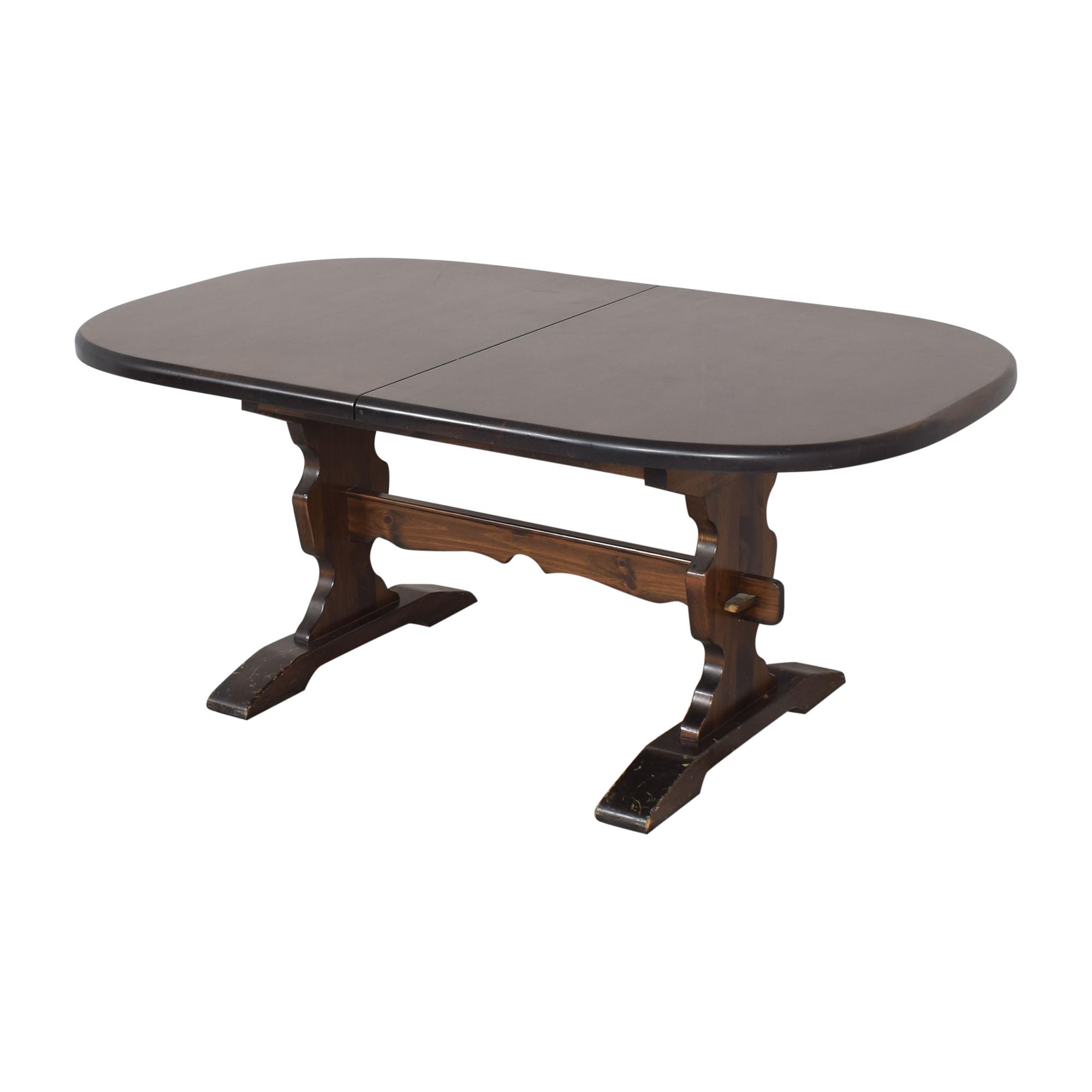 Bennington Pine Bennington Pine Extendable Trestle Dining Table nj