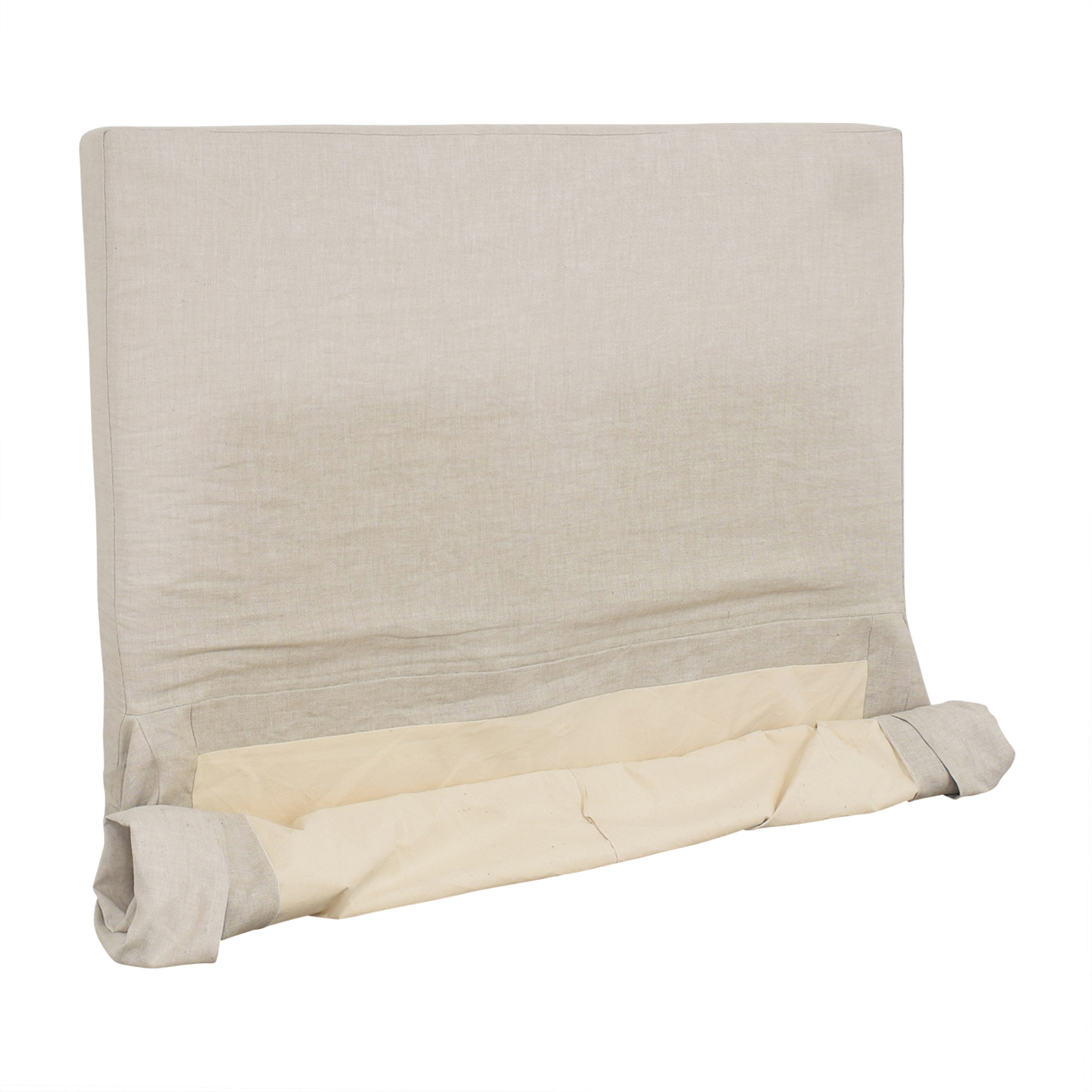 Restoration Hardware Restoration Hardware Parsons Slipcovered King Headboard with Bed Skirt second hand