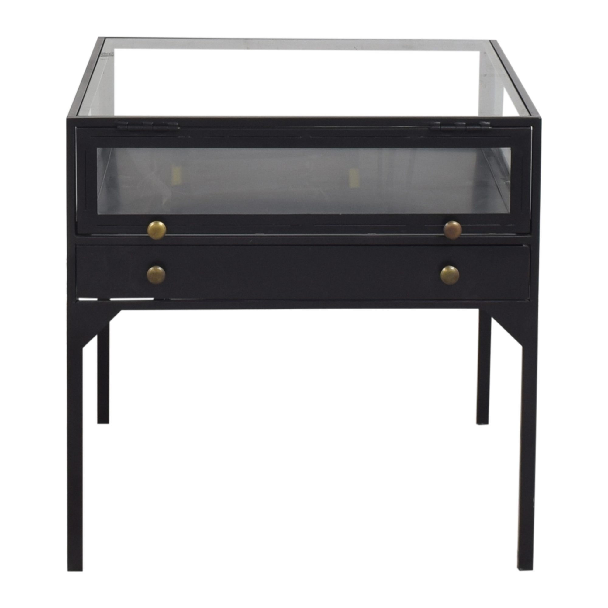Four Hands Four Hands Shadow Box End Table black