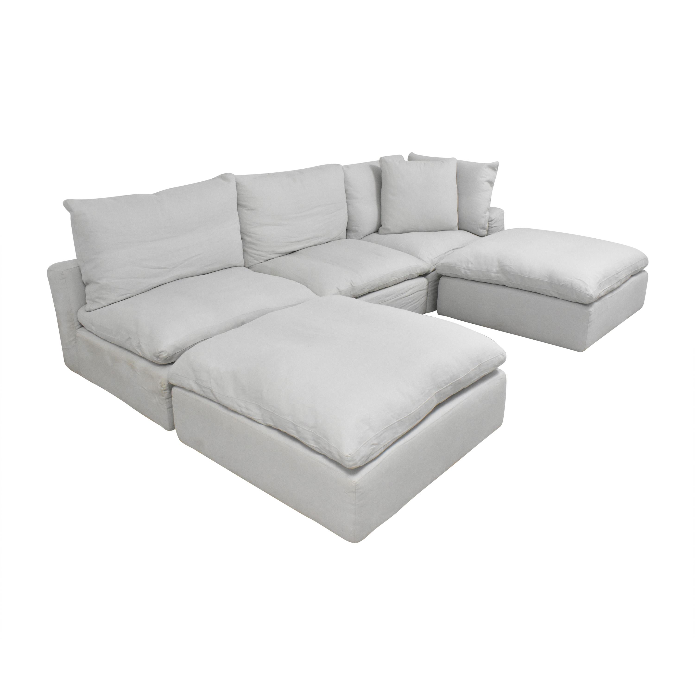 shop Restoration Hardware Cloud Modular Sofa with Ottomans Restoration Hardware Sectionals