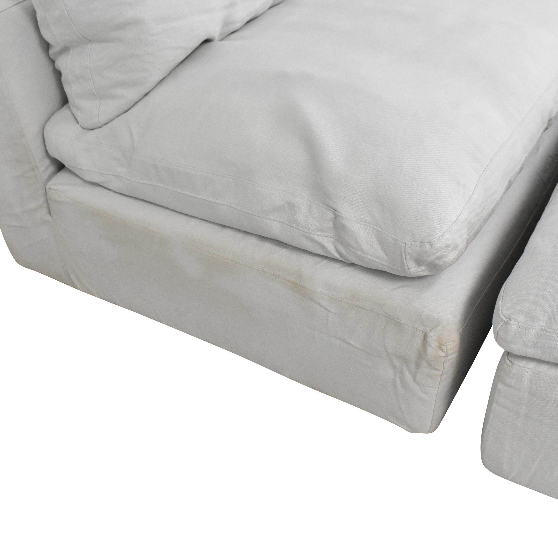 buy Restoration Hardware Cloud Modular Sofa with Ottomans Restoration Hardware Sofas