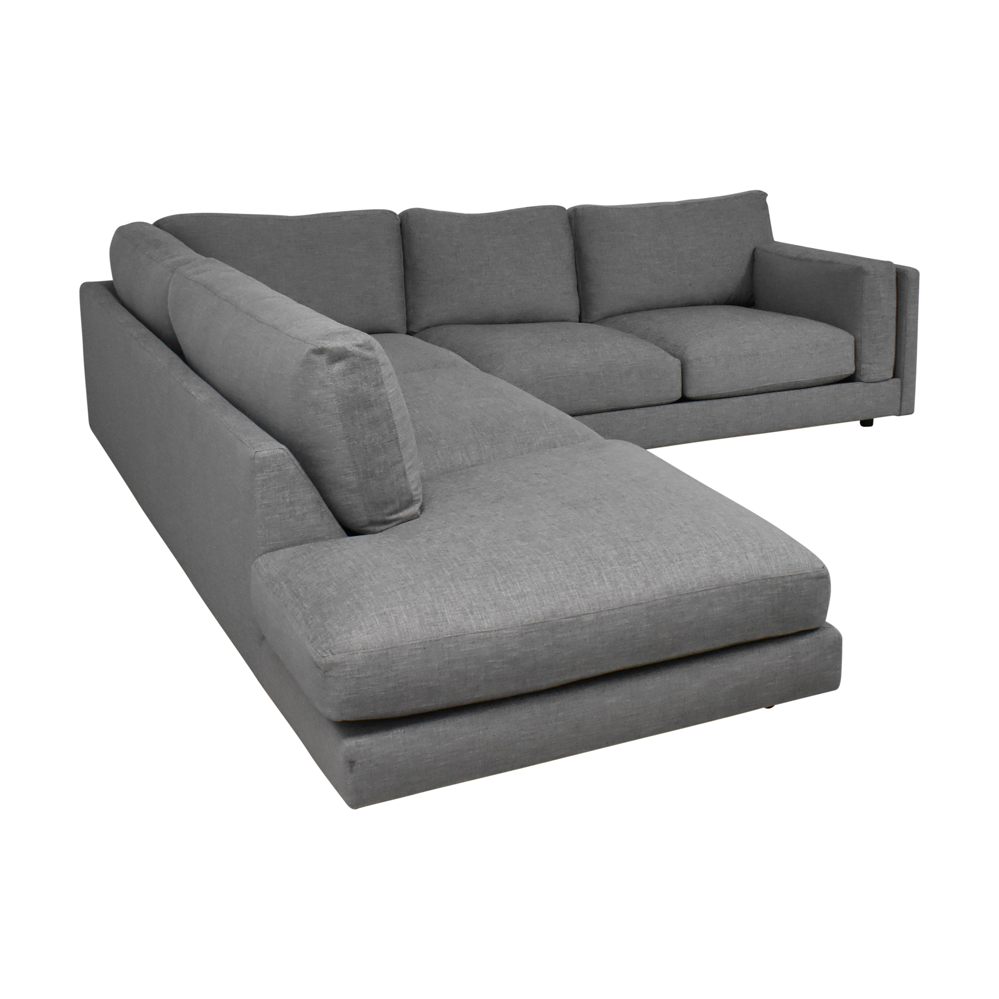 BenchMade Modern BenchMade Modern Skinny Fat Sectional With Bumper Sofas