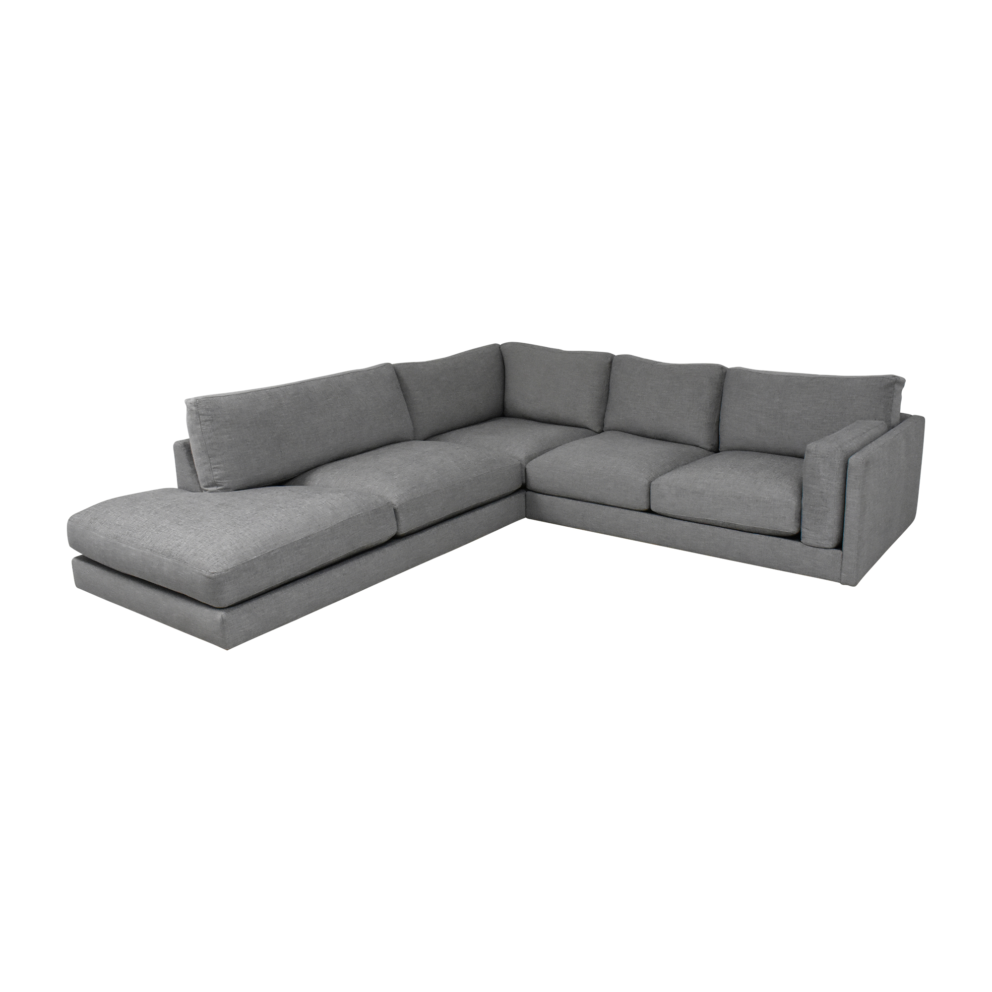 BenchMade Modern BenchMade Modern Skinny Fat Sectional With Bumper grey