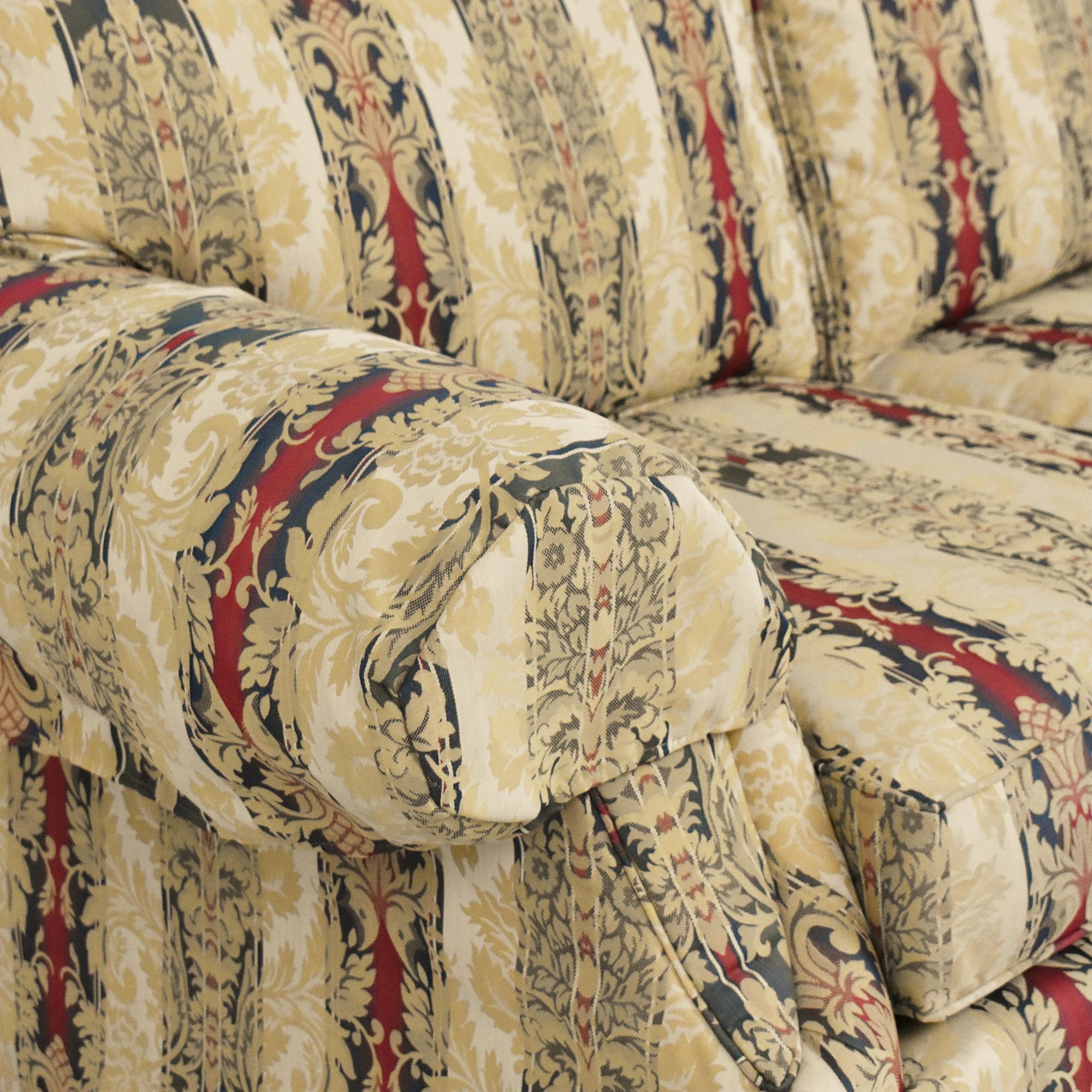 Ethan Allen Ethan Allen Stripe Damask Sofa pa