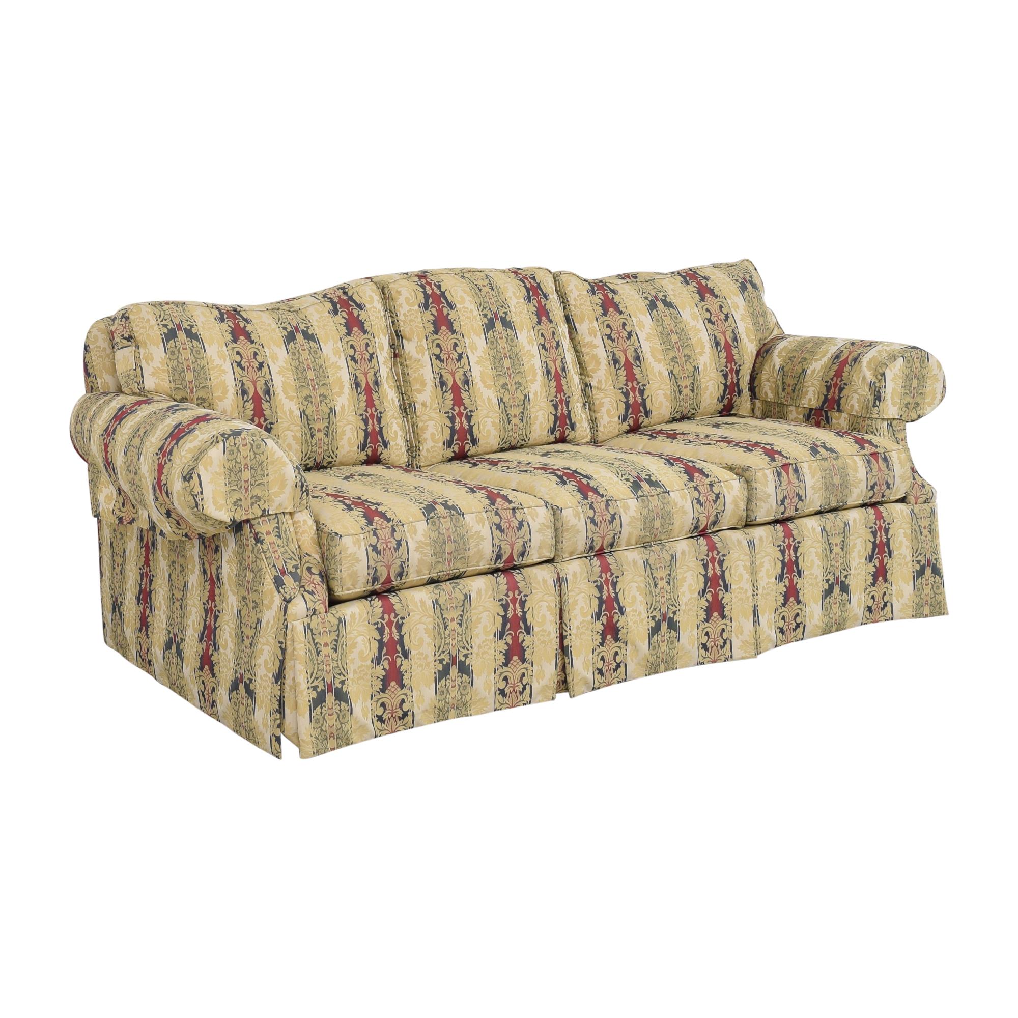 Ethan Allen Ethan Allen Stripe Damask Sofa Classic Sofas