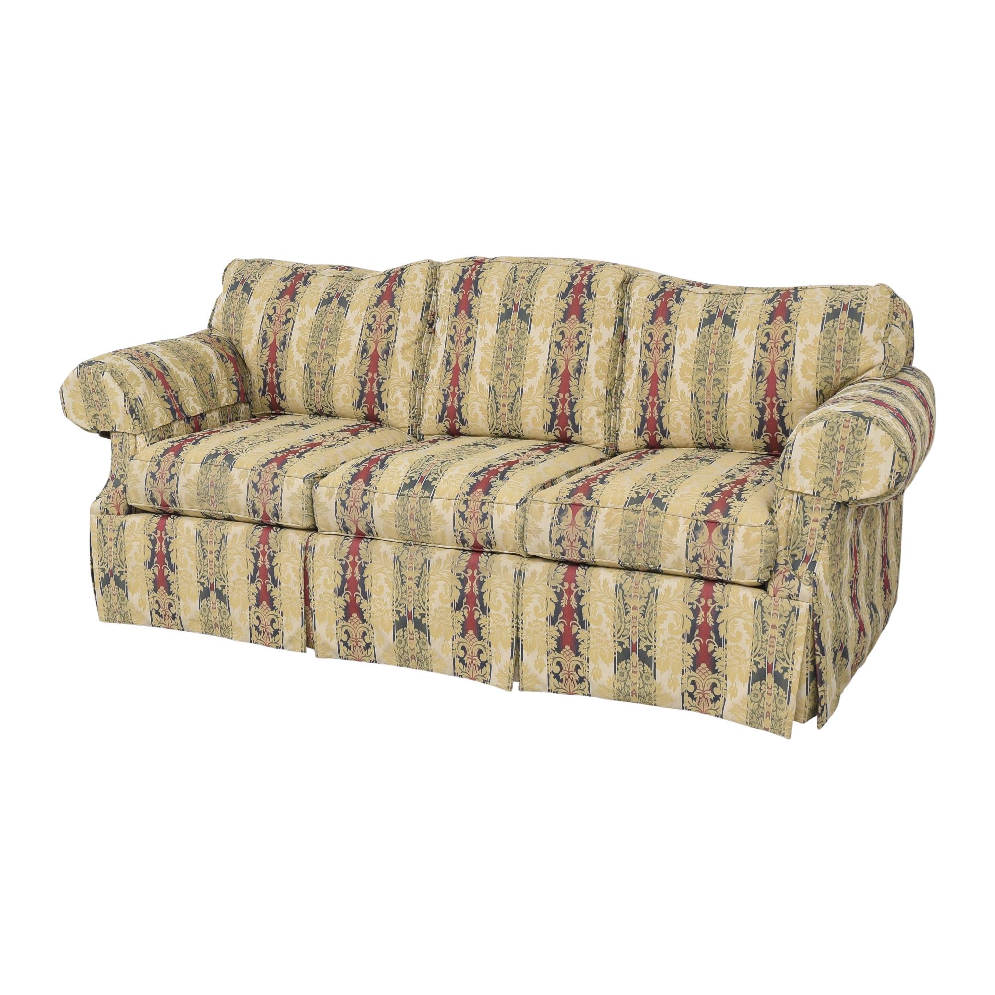 Ethan Allen Stripe Damask Sofa / Sofas