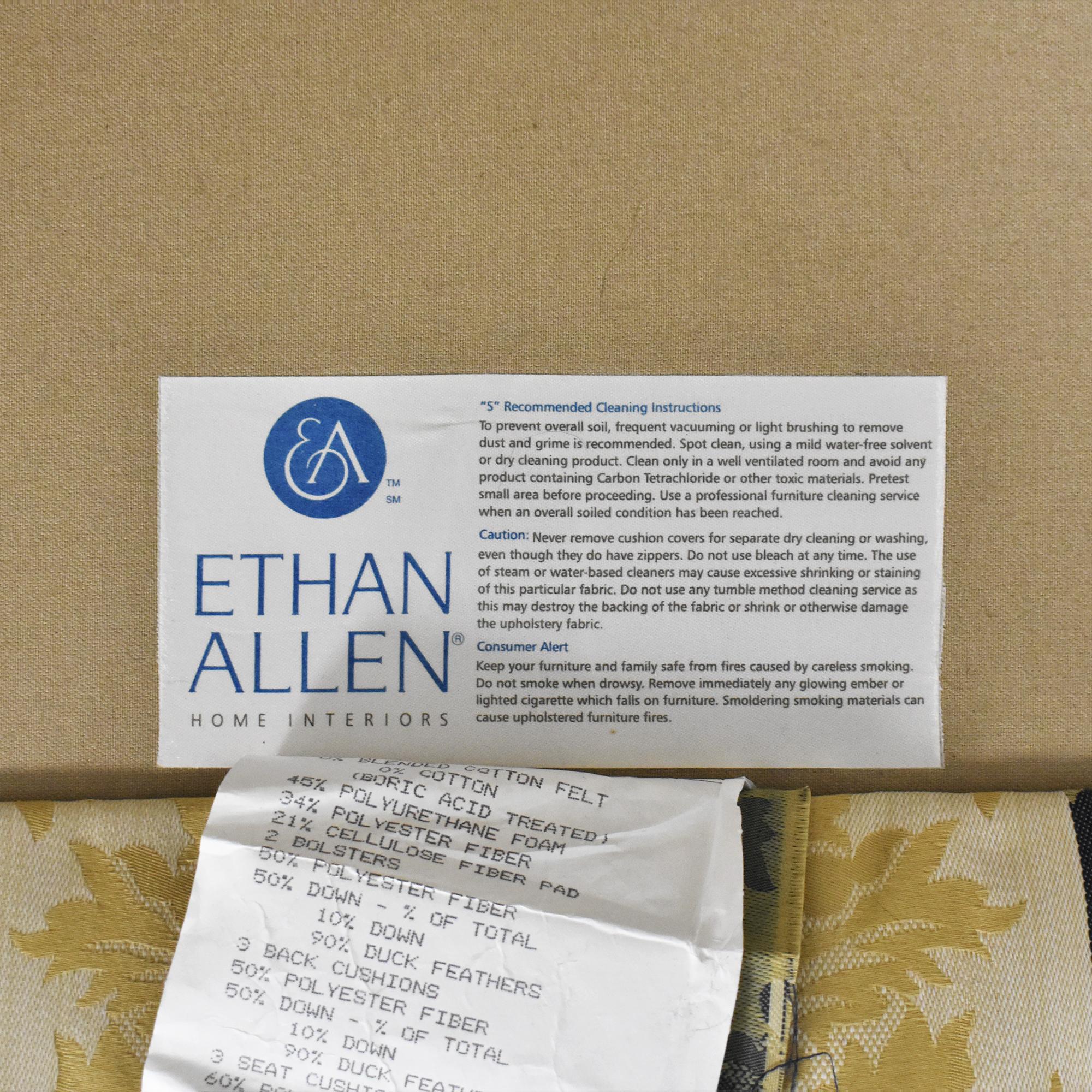 Ethan Allen Ethan Allen Stripe Damask Sofa for sale