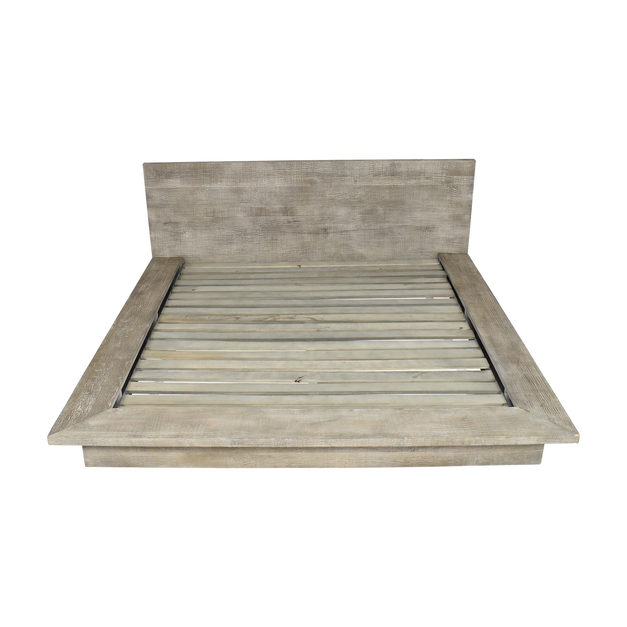 48 Off Restoration Hardware Reclaimed Platform King Bed Beds