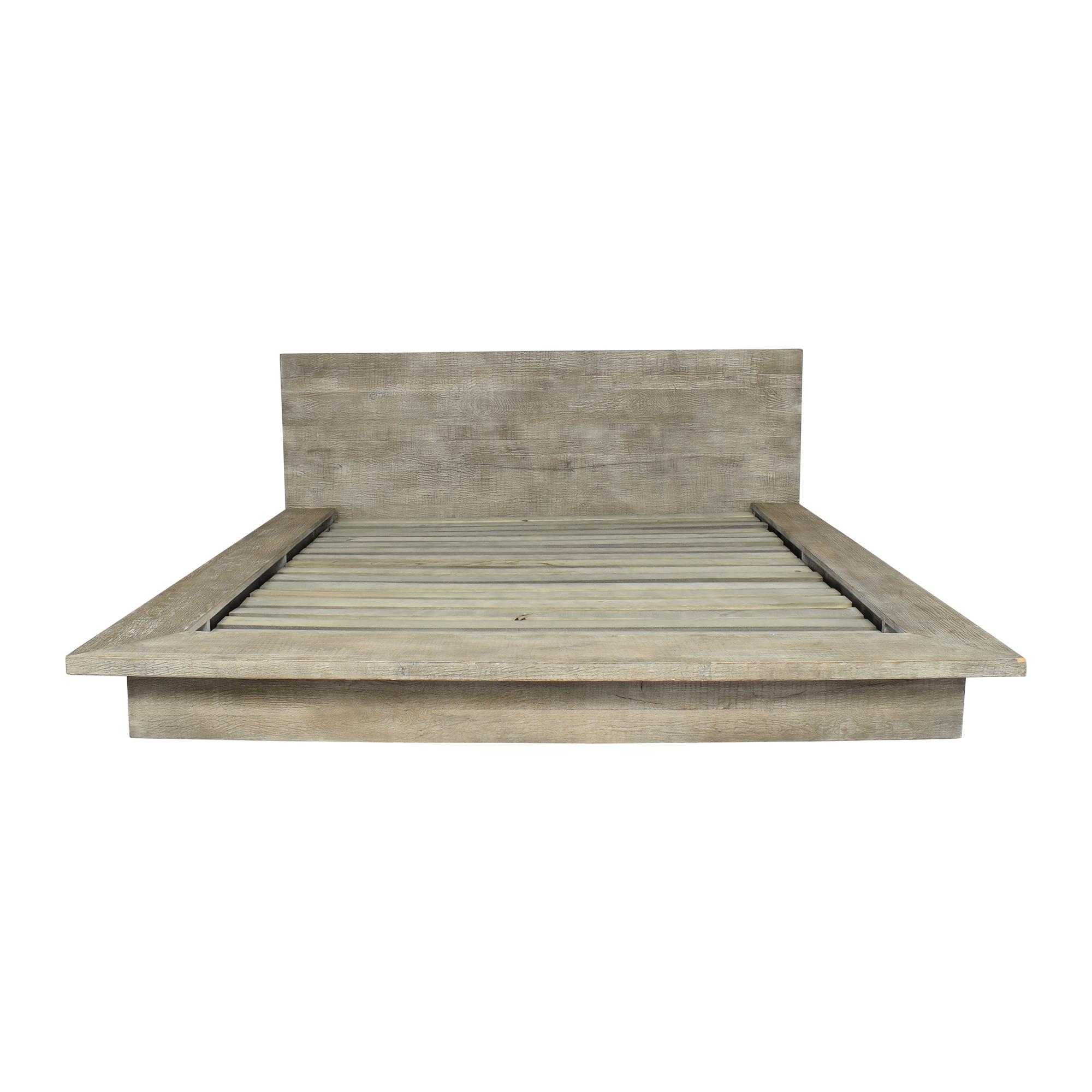 shop Restoration Hardware Reclaimed Platform King Bed Restoration Hardware Bed Frames