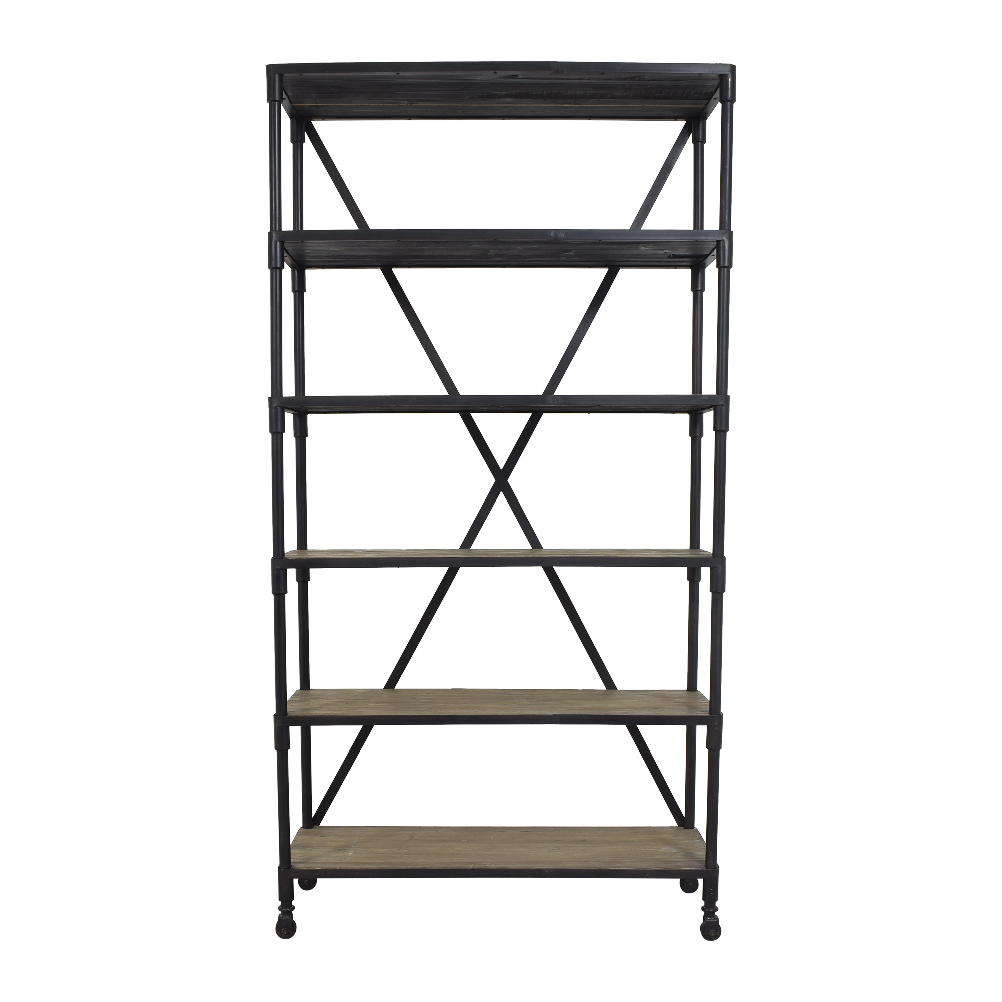 shop VivaTerra Industrial Chic Bookshelf VivaTerra