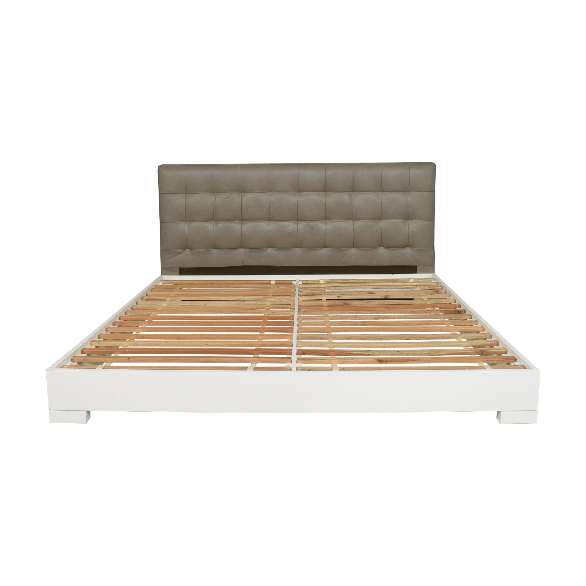 buy West Elm Grid Tufted King Bed West Elm Beds