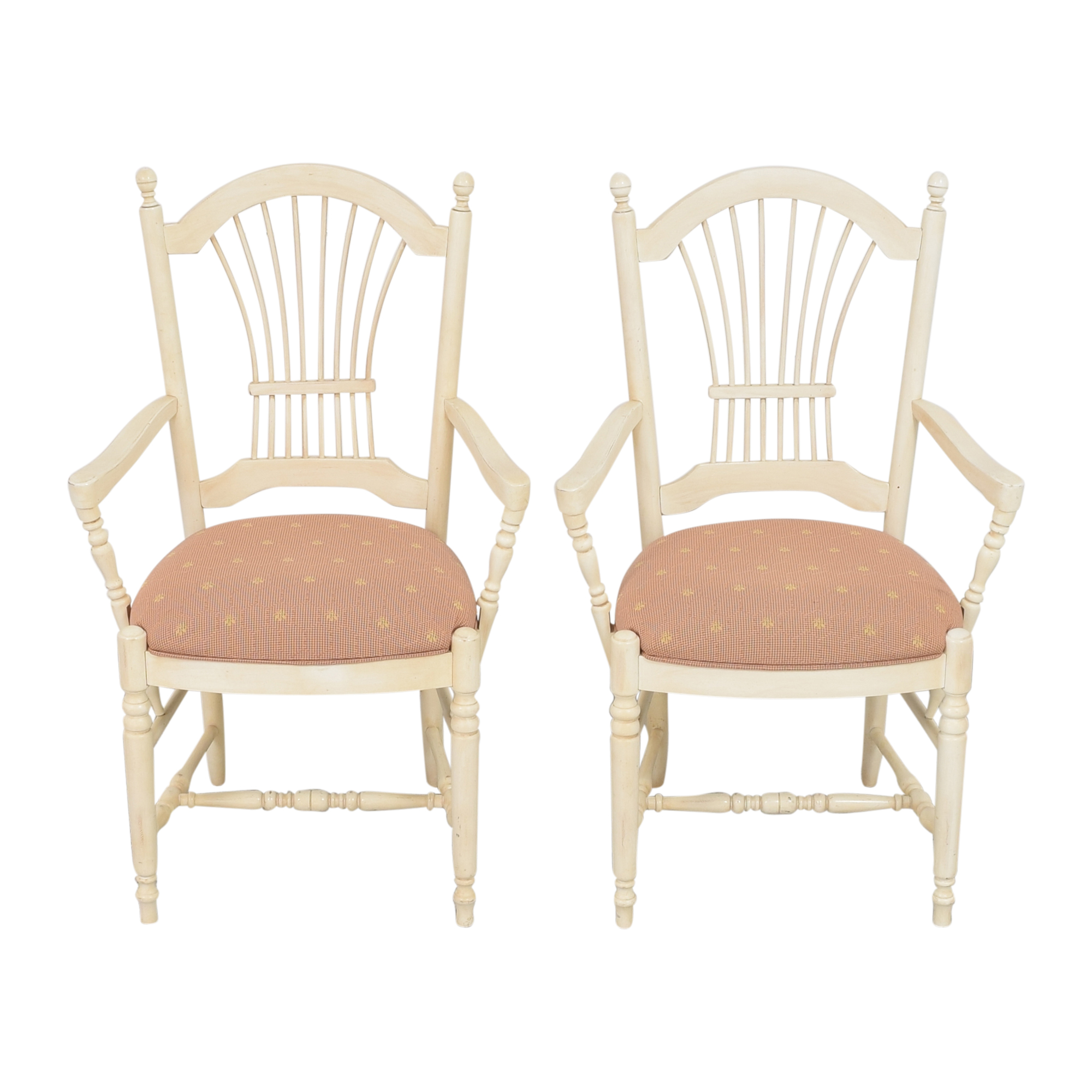 Ethan Allen Country French Dining Arm Chairs Ethan Allen
